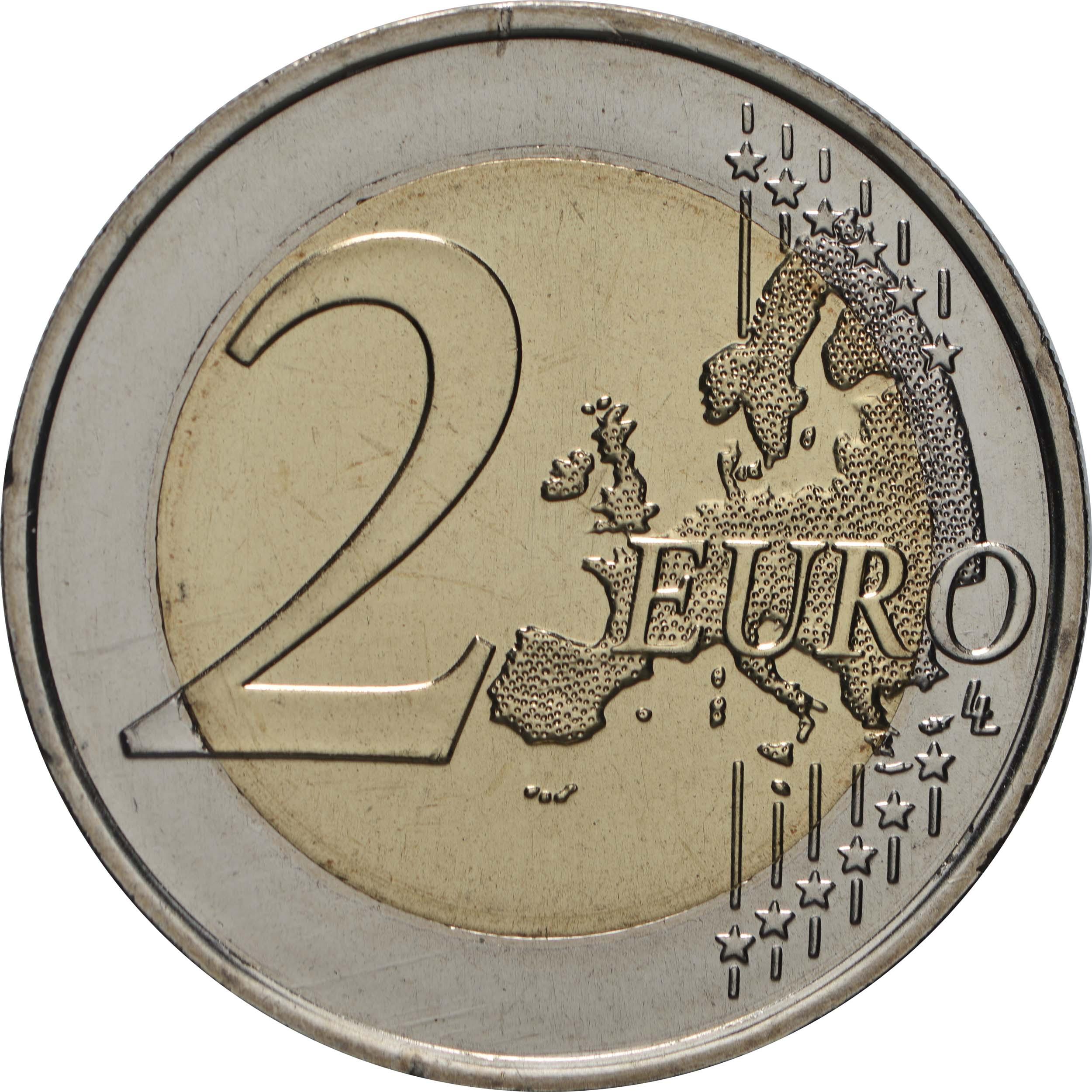Vorderseite:Portugal : 2 Euro 730. Jahrestag der Gründung der Universität Coimbra  2020 bfr