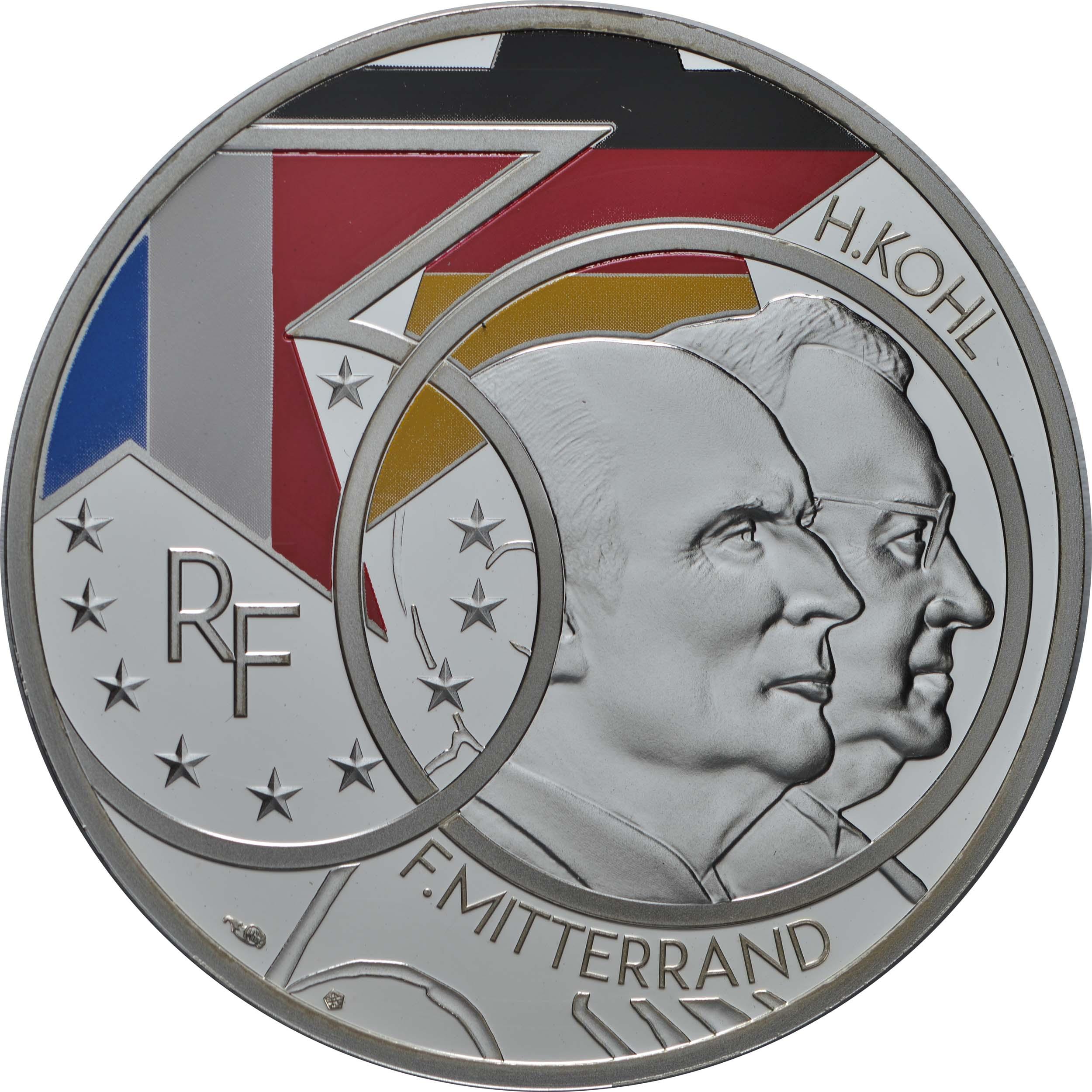 Vorderseite:Frankreich : 10 Euro Mitterand-Kohl  2020 PP