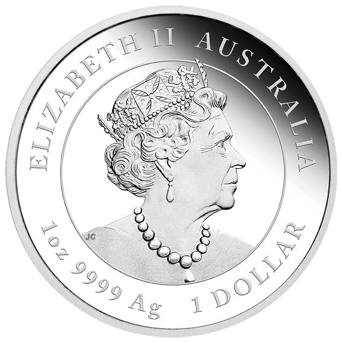 Rückseite:Australien : 1 Dollar Jahr des Ochsen  2021 PP
