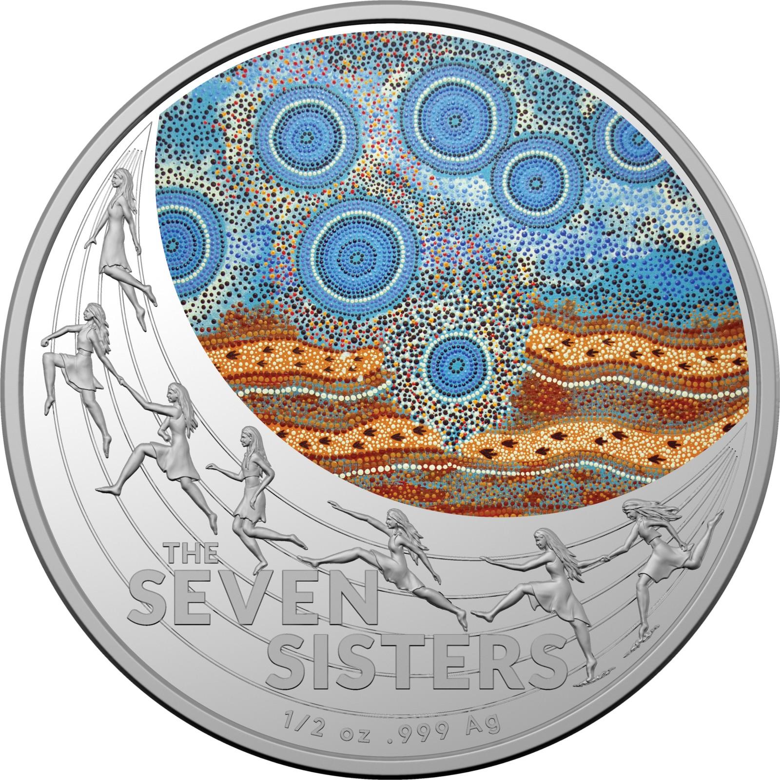 Vorderseite:Australien : 1 Dollar Star Dreaming - The Seven Sisters   2020 bfr
