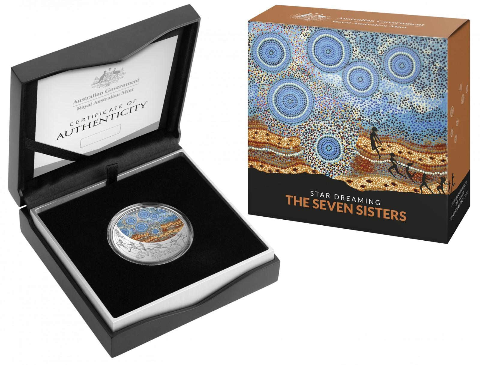 Zertifikat:Australien : 1 Dollar Star Dreaming - The Seven Sisters   2020 bfr