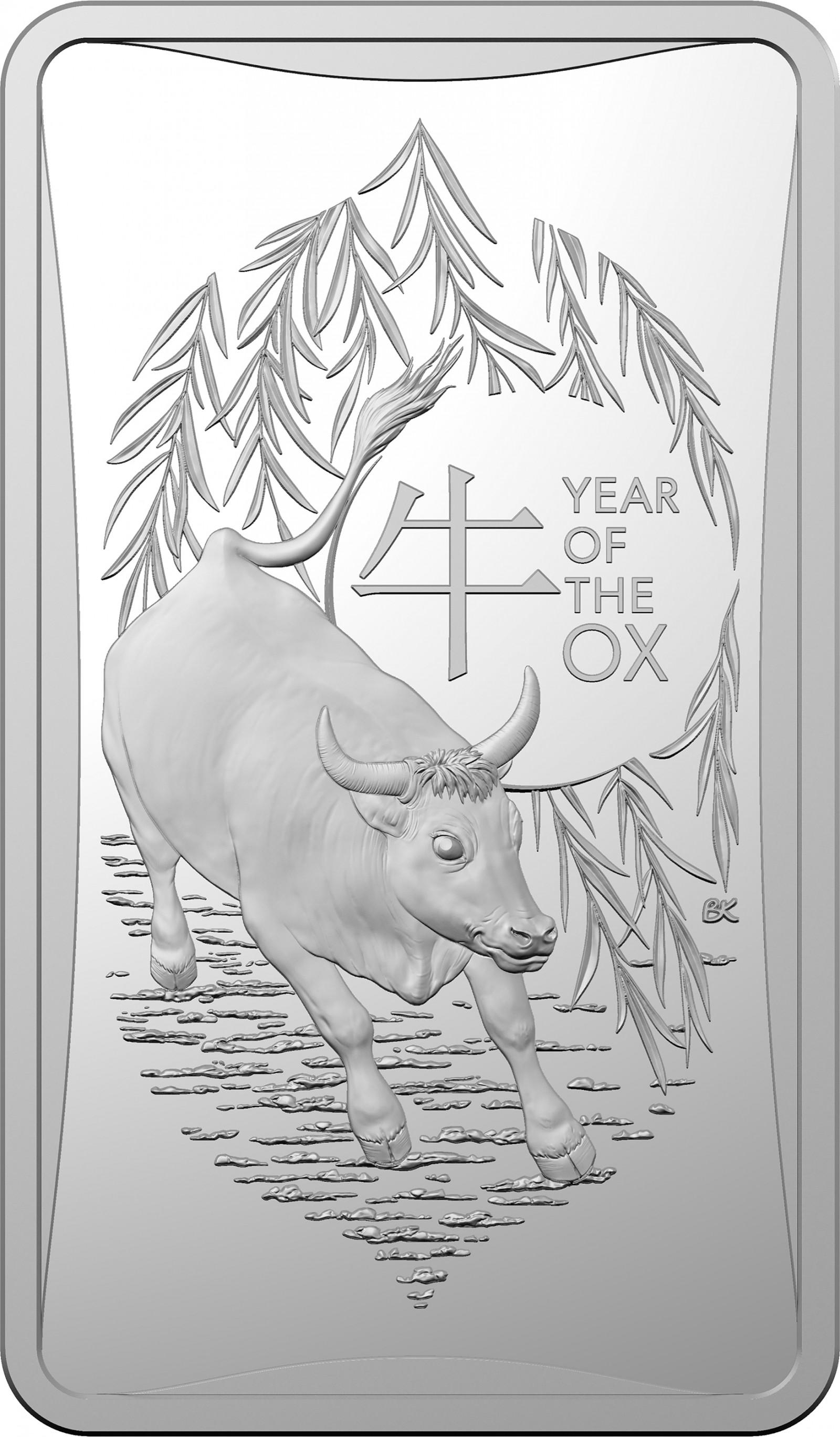 Vorderseite:Australien : 1 Dollar Year of the Ox ½ oz  2021 bfr