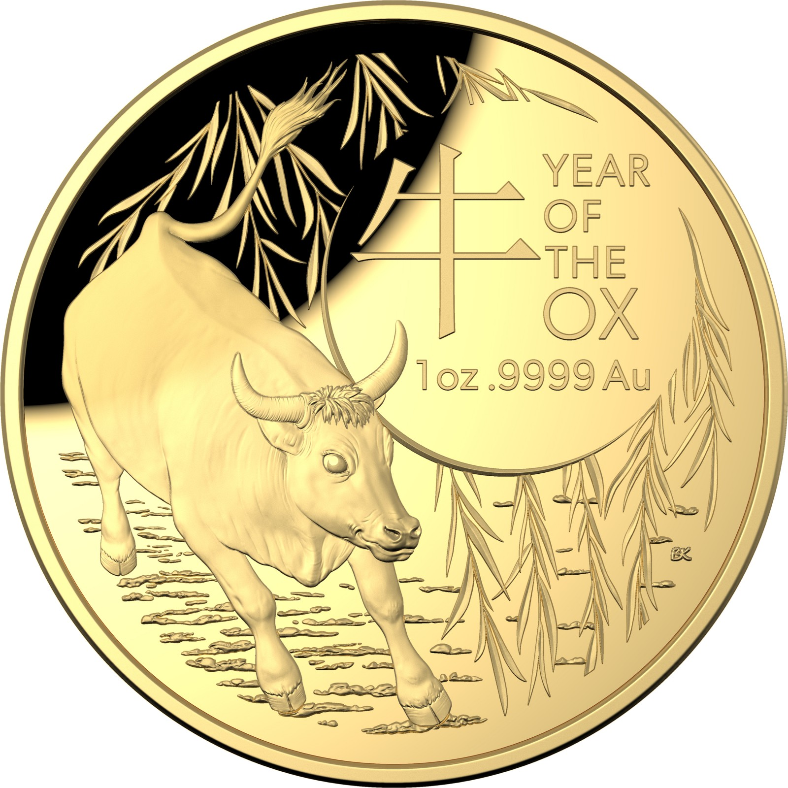 Vorderseite:Australien : 100 Dollar Year of the Ox 1 Oz   2021 PP