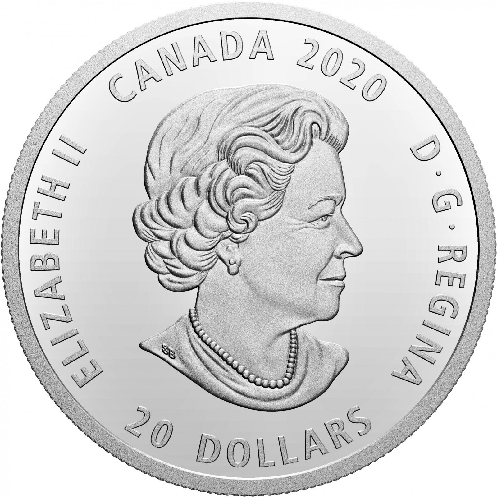 Vorderseite:Kanada : 20 Dollar Bill Reid: Xhuwaji, Haida Grizzly Bear  2020 PP