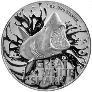 Lieferumfang:Australien : 1 Dollar Großer Weißer Hai 1oz  2021 Stgl.
