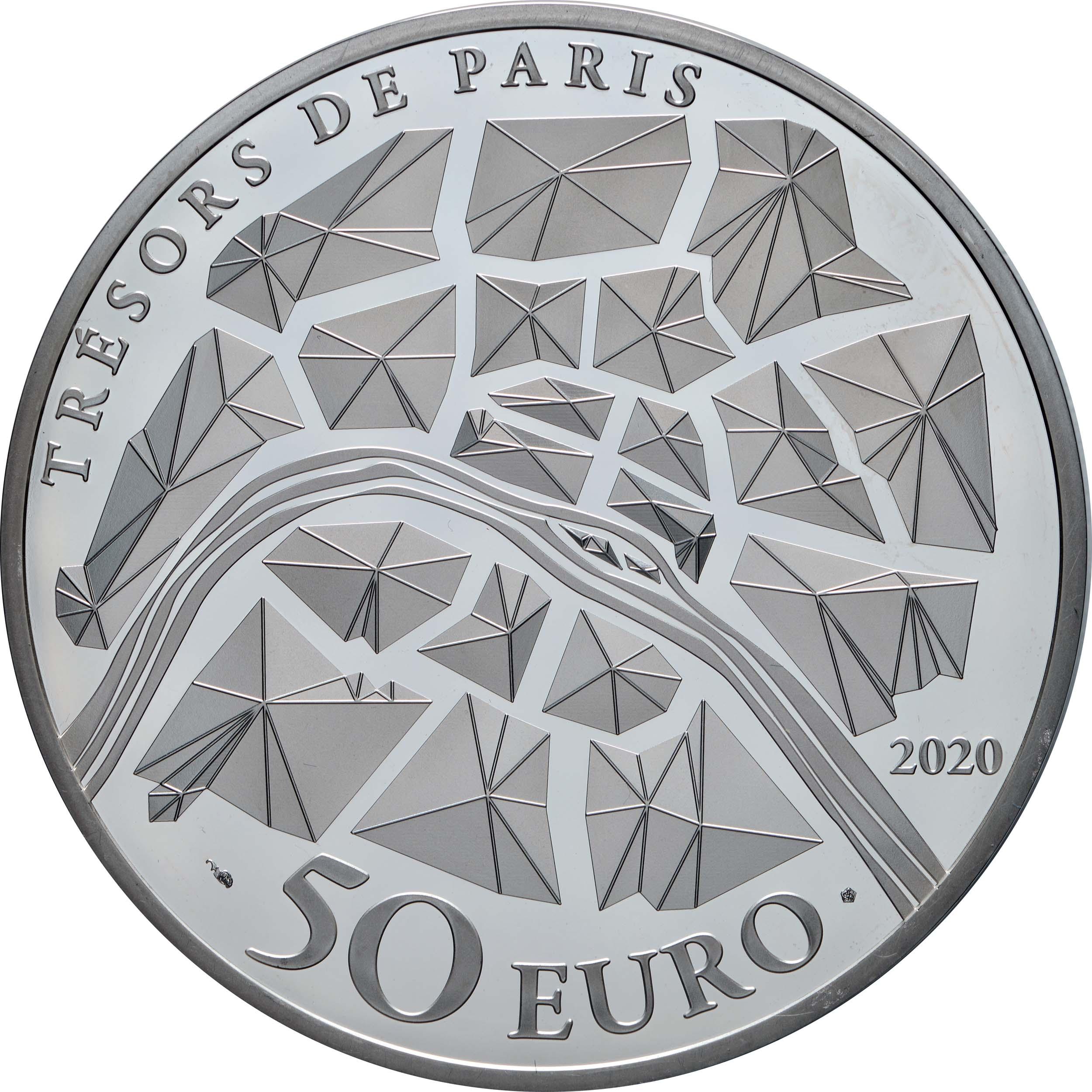 Rückseite:Frankreich : 50 Euro Champs-Élysées  2020 PP