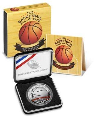 Lieferumfang:USA : 1 Dollar Basketball - Hall of Fame  2020 PP