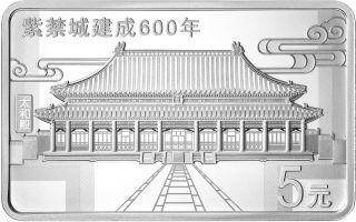 Vorderseite:China : 3x5 Yuan Verbotene Stadt - Set - im Etui  2020 PP
