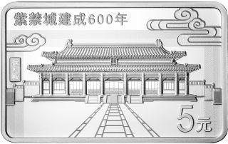 Zertifikat:China : 3x5 Yuan Verbotene Stadt - Set - im Etui  2020 PP