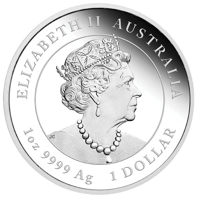Rückseite:Australien : 3 Dollar Jahr des Ochsen Set aus 3 Silbermünzen farbig  2021 PP