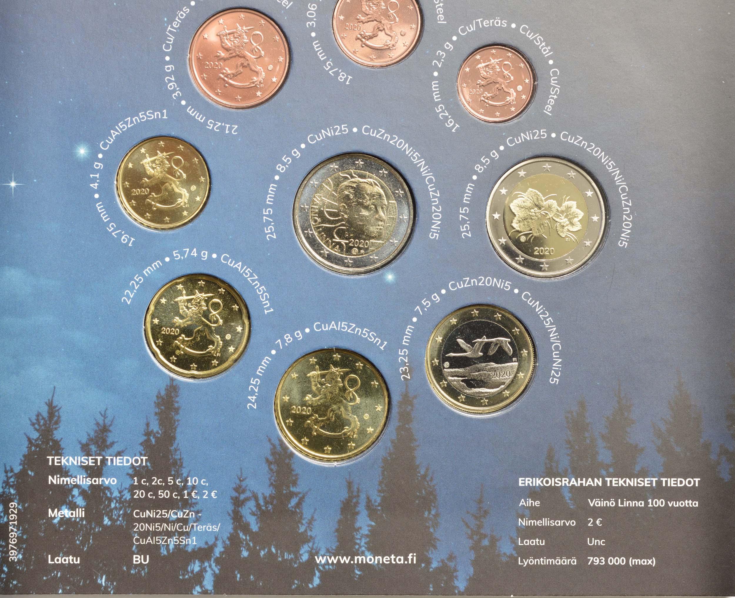 Zertifikat:Finnland : 5,88 Euro KMS Finnland Stella Polaris  2020 Stgl.
