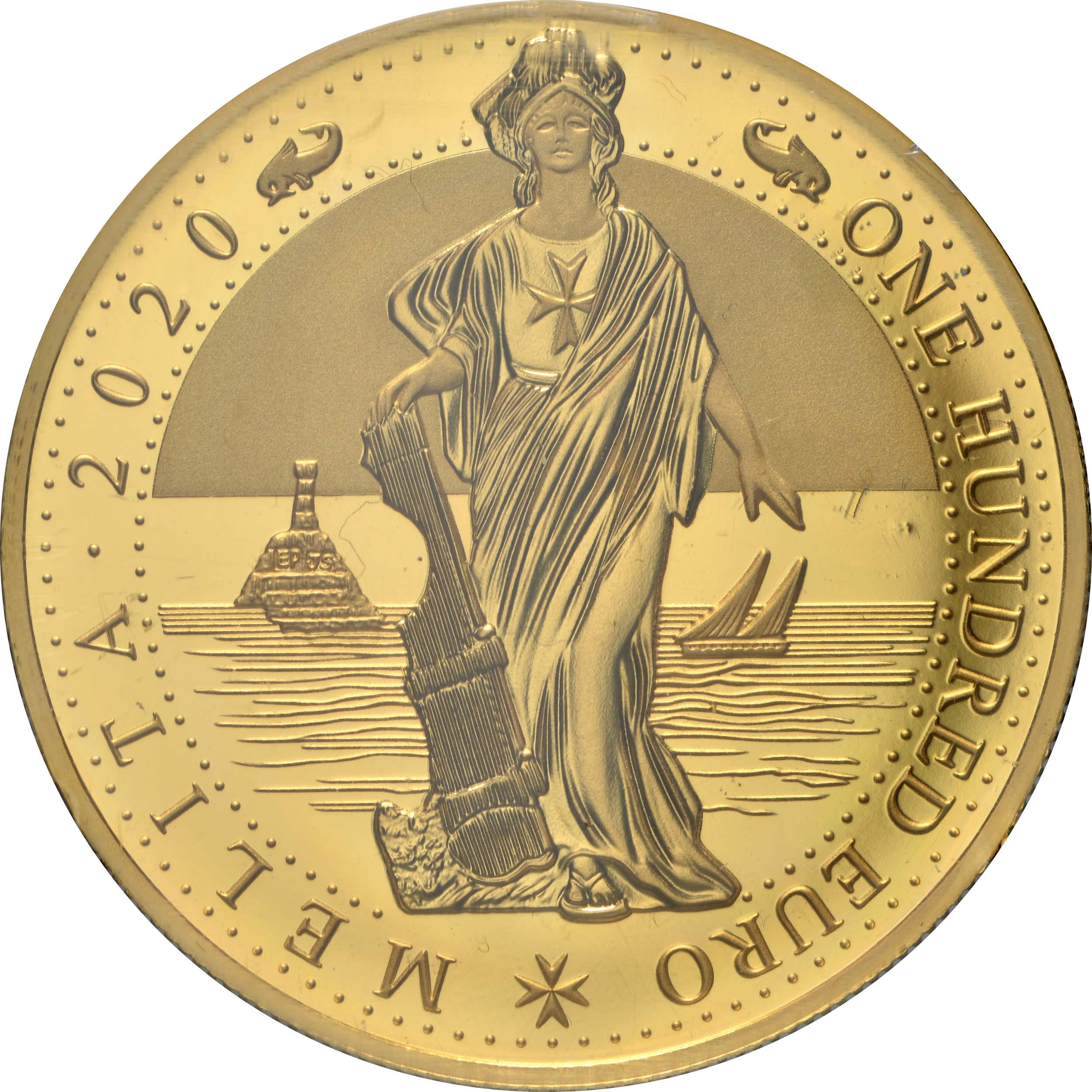 Vorderseite:Malta : 100 Euro Melita  2020 PP