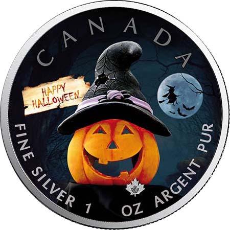 Lieferumfang:Kanada : 5 Dollar Maple Leaf in Farbe  2020 Stgl.