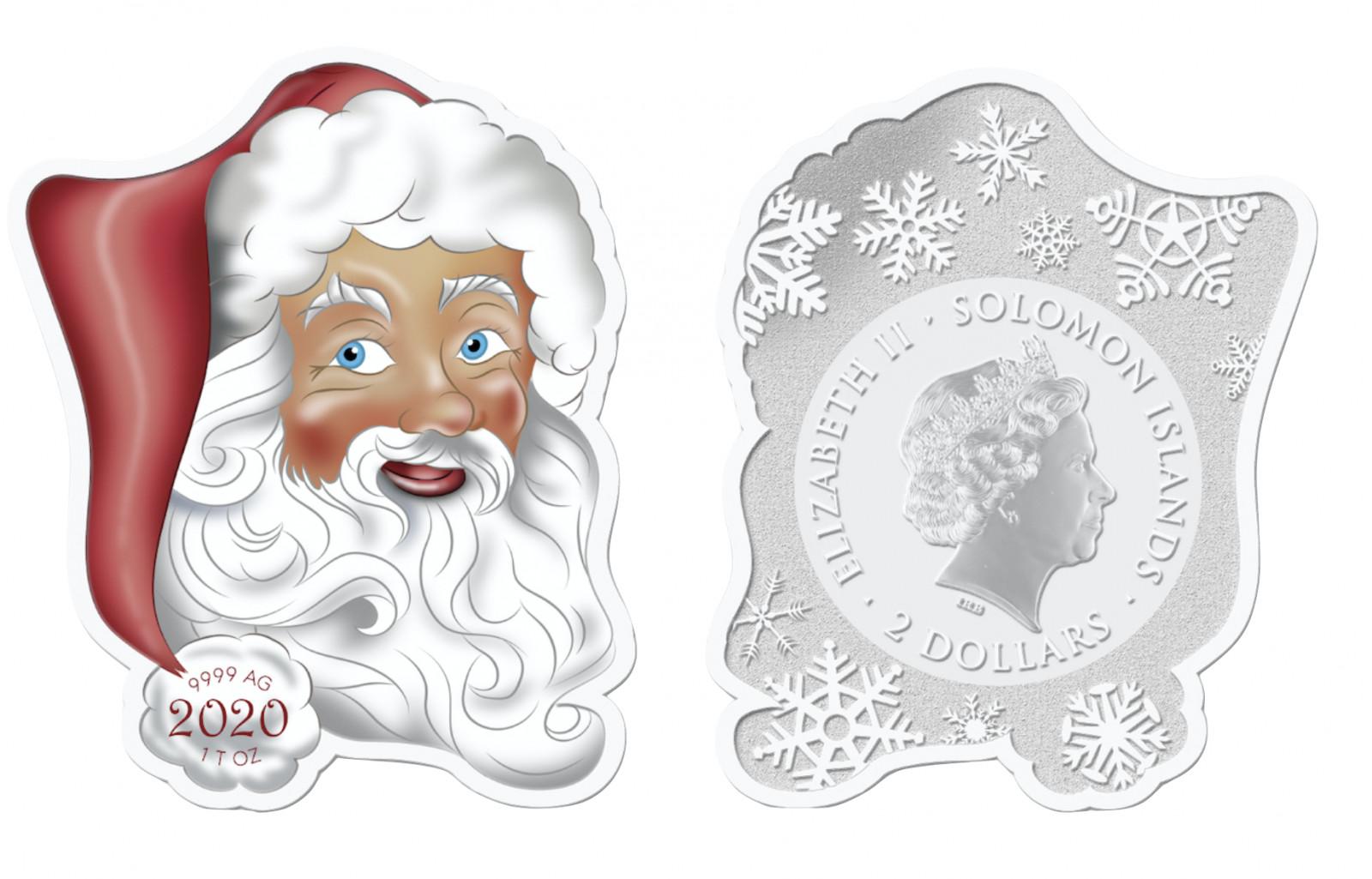 Lieferumfang:Solomon Islands : 2 Dollar Weihnachtsmann  2020 PP