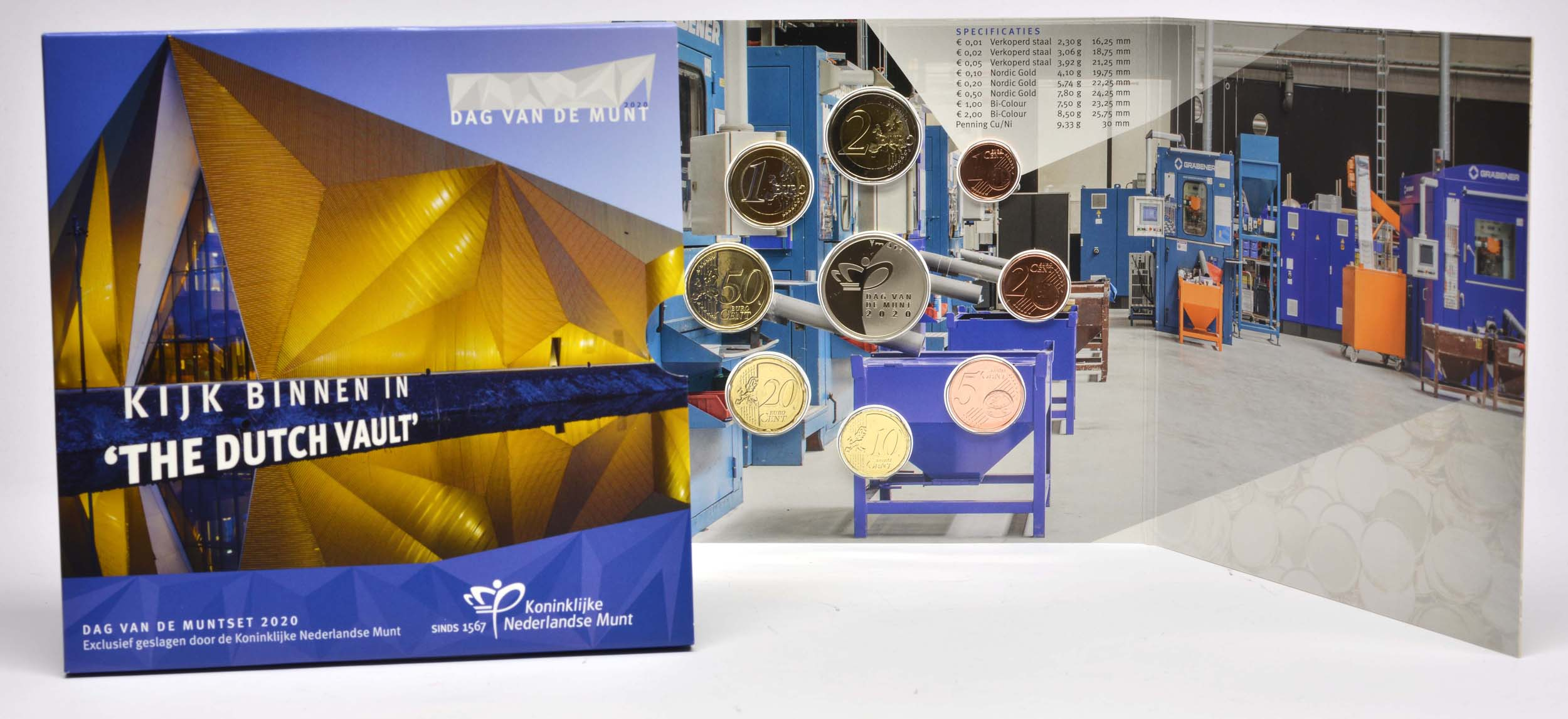 Lieferumfang:Niederlande : 3,88 Euro KMS Niederlande Tag der königlichen Münze   2020 Stgl.