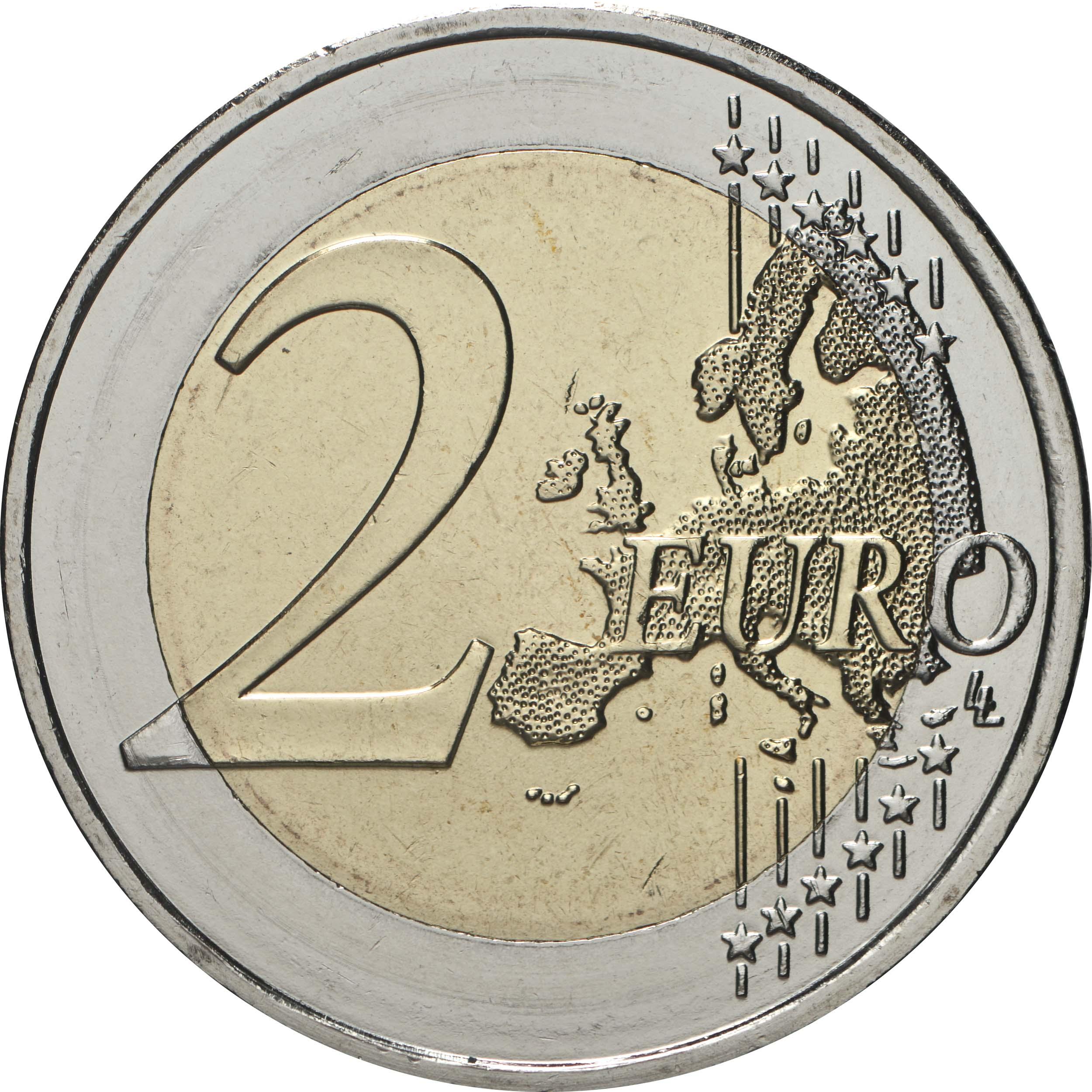 Vorderseite:Zypern : 2 Euro 30 Jahre Institut für Neurologie und Genetik  2020 bfr
