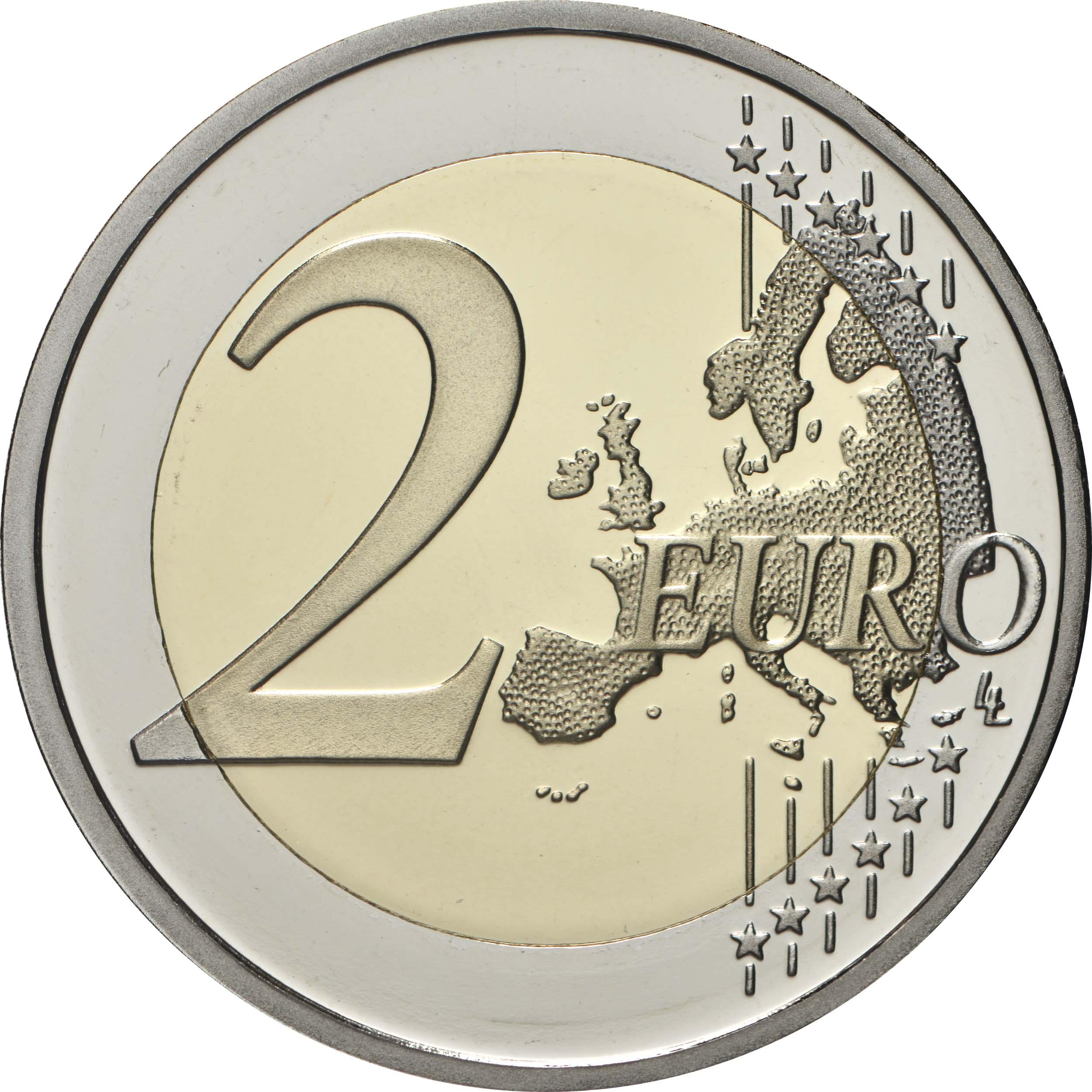Vorderseite:Zypern : 2 Euro 30 Jahre Institut für Neurologie und Genetik  2020 PP