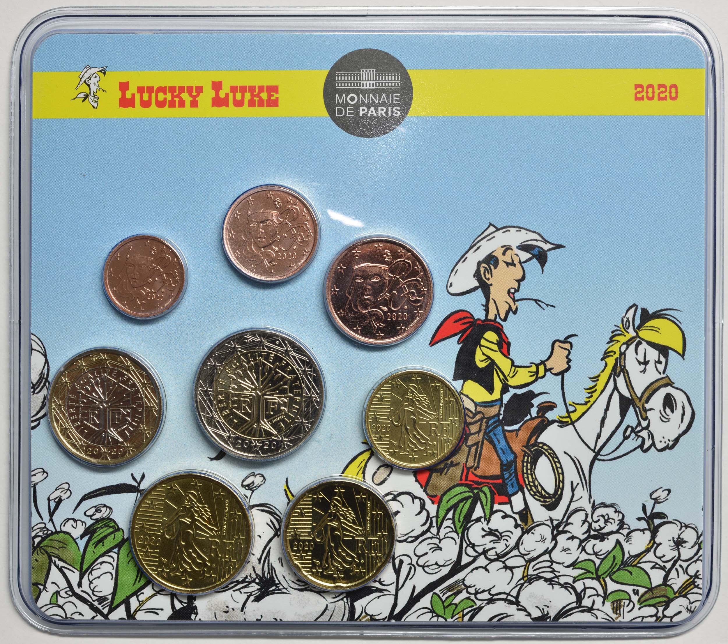 Lieferumfang:Frankreich : 3,88 Euro KMS Lucky Luke  2020 Stgl.