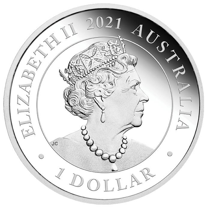 Rückseite:Australien : 1 Dollar Hochzeit  2021 PP