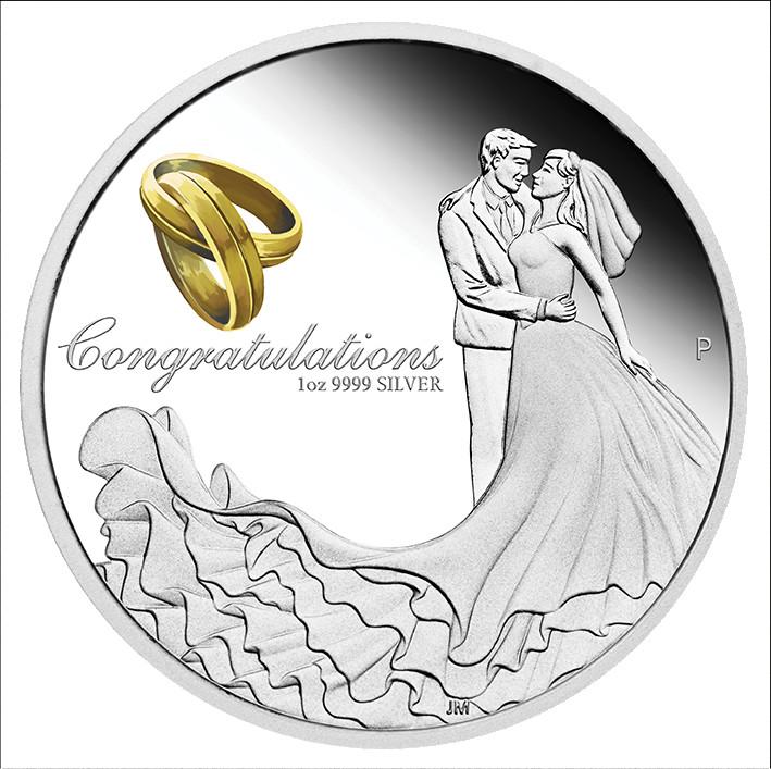Vorderseite:Australien : 1 Dollar Hochzeit  2021 PP