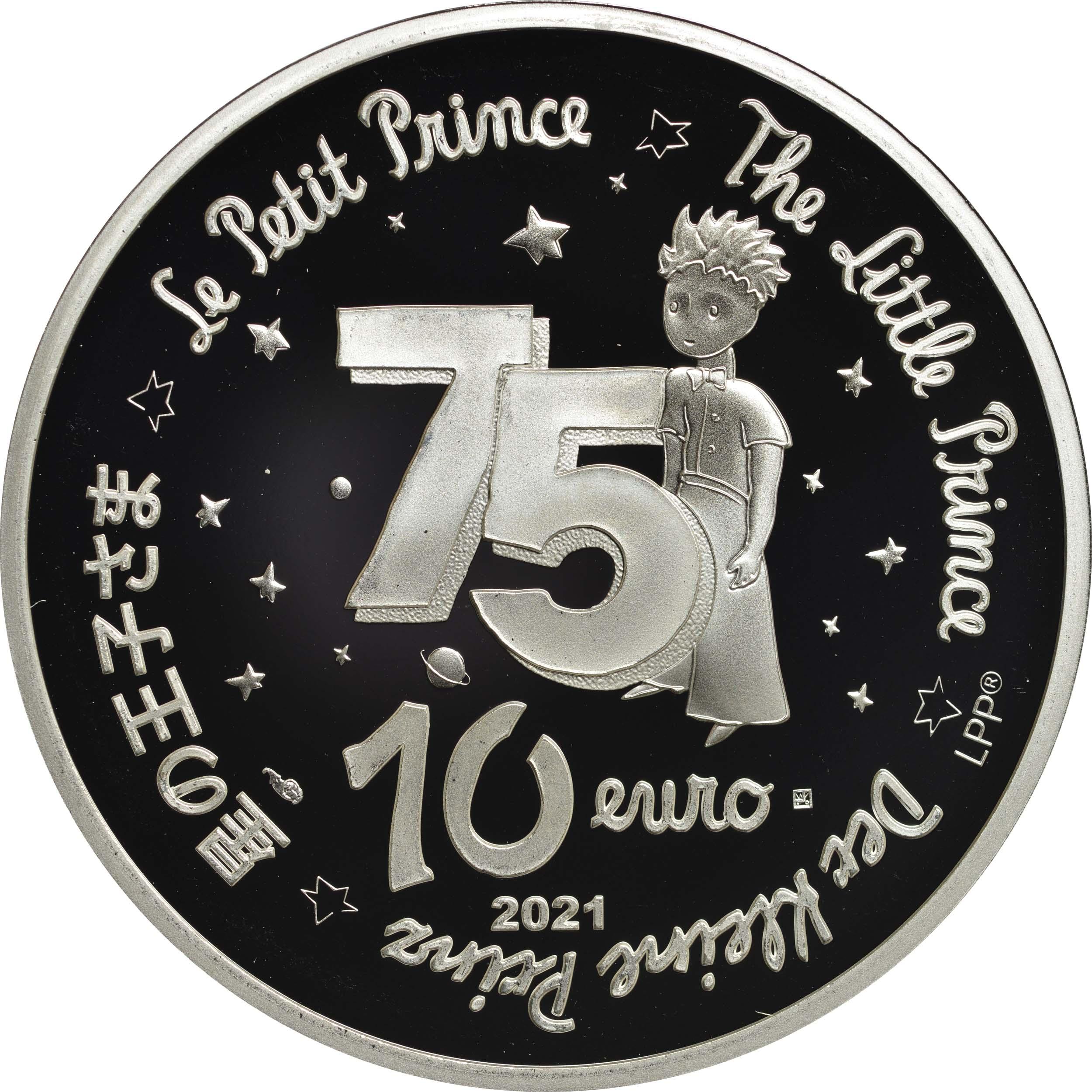 Rückseite:Frankreich : 10 Euro Fuchs  2021 PP