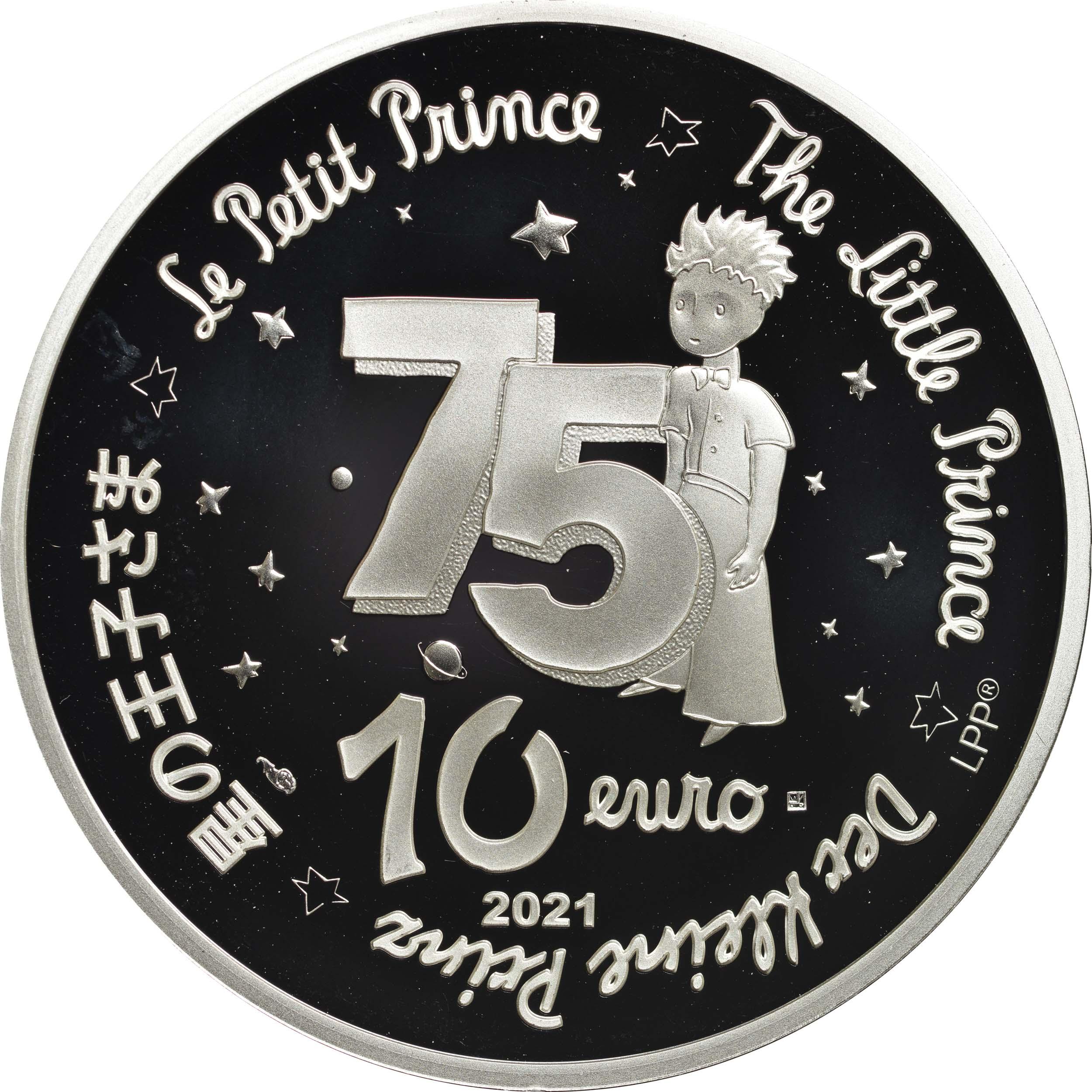 Rückseite:Frankreich : 10 Euro Mond  2021 PP