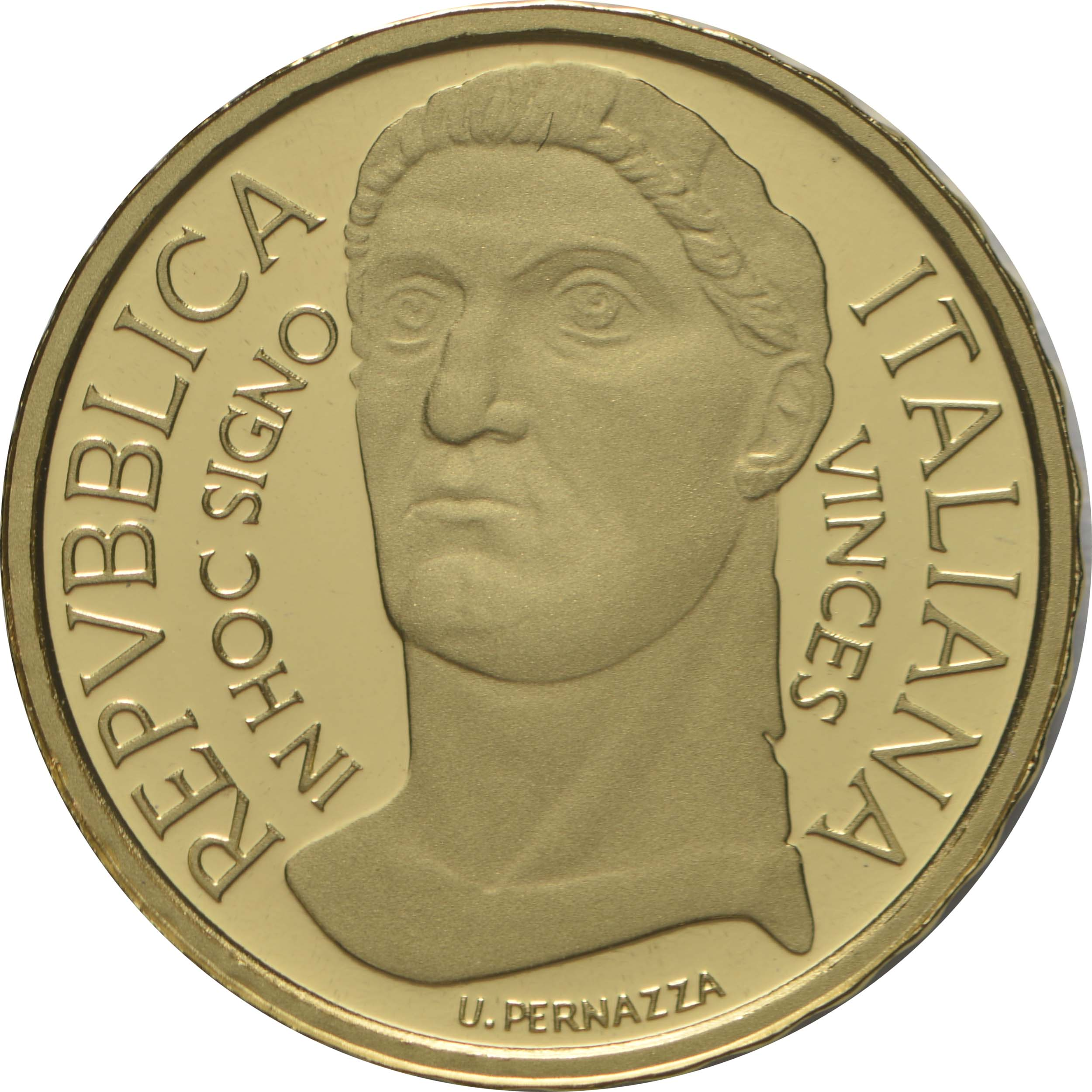 Vorderseite:Italien : 10 Euro Konstantin der Große #5  2021 PP