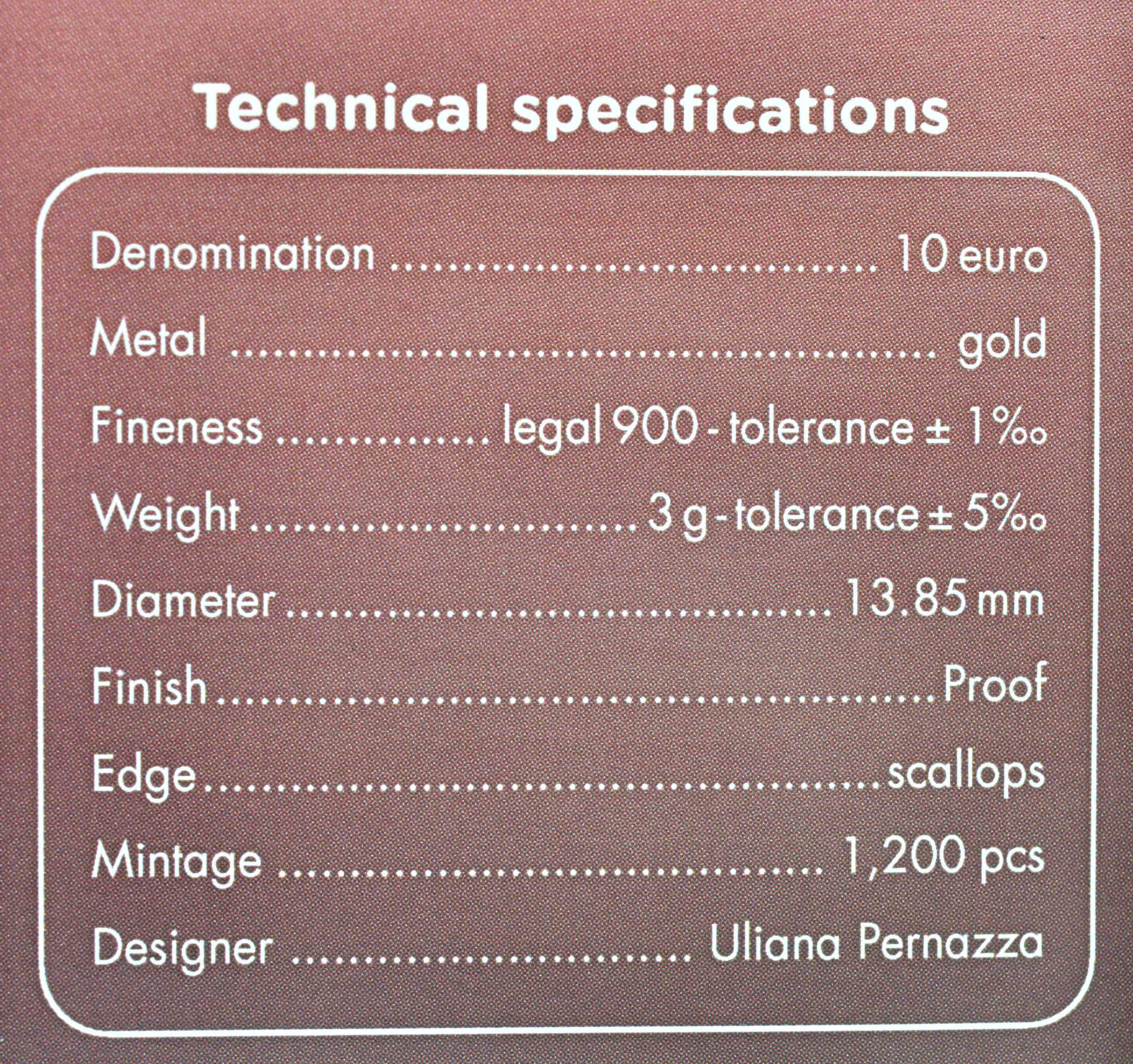 Zertifikat:Italien : 10 Euro Konstantin der Große #5  2021 PP