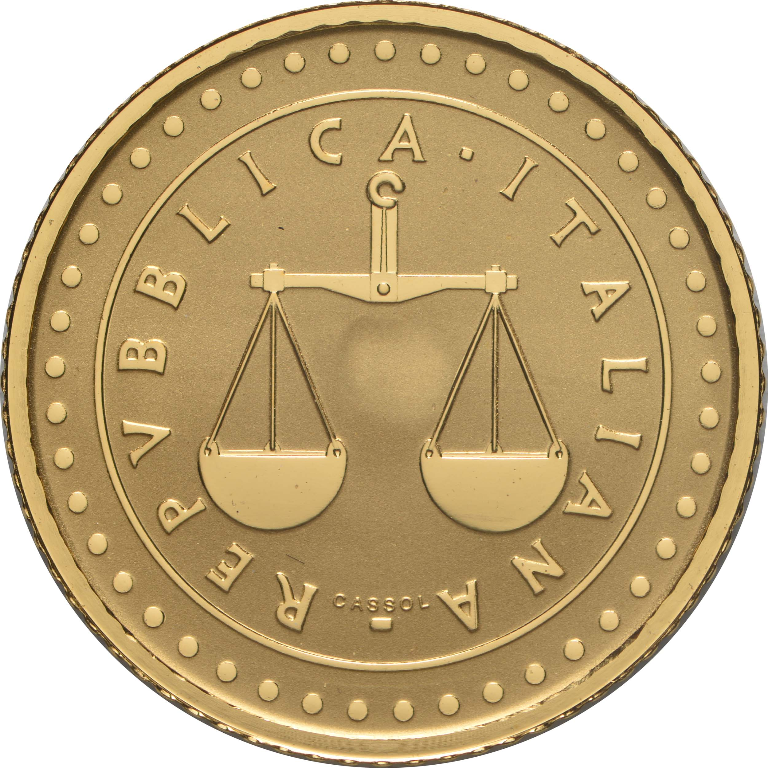 Rückseite:Italien : 20 Euro 1 Lira  -reverse proof-  2021 PP