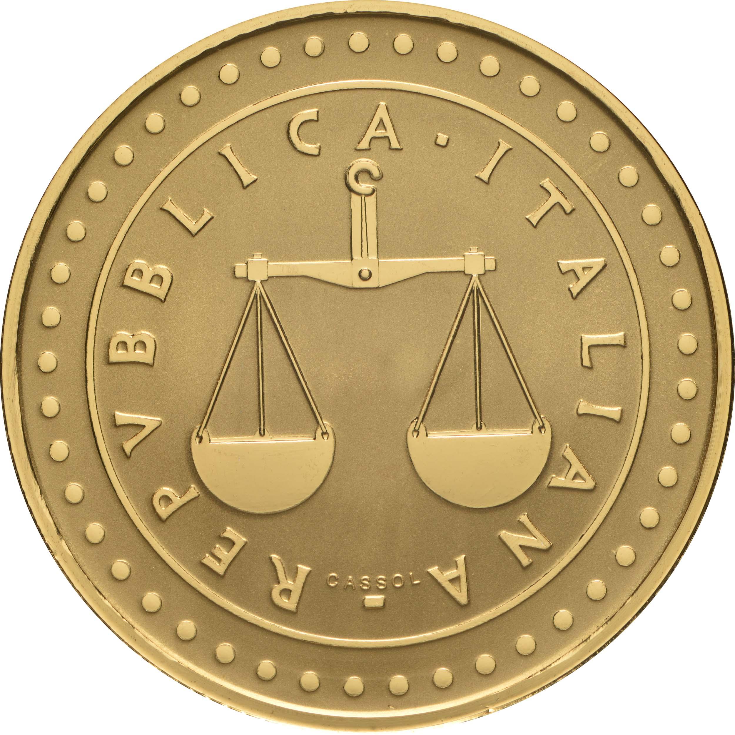 Rückseite:Italien : 50 Euro 1 Lira  -reverse proof-  2021 PP