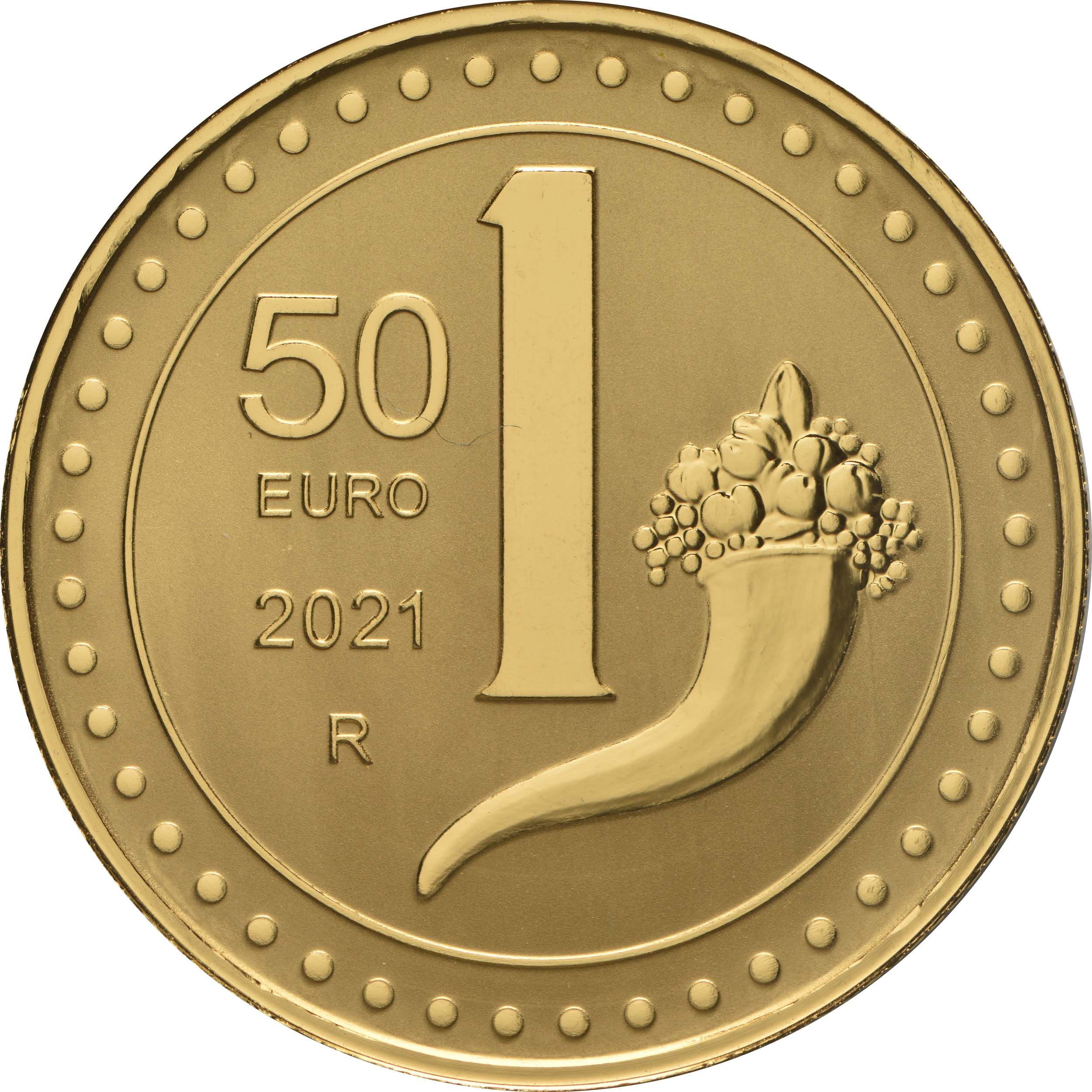 Vorderseite:Italien : 50 Euro 1 Lira  -reverse proof-  2021 PP