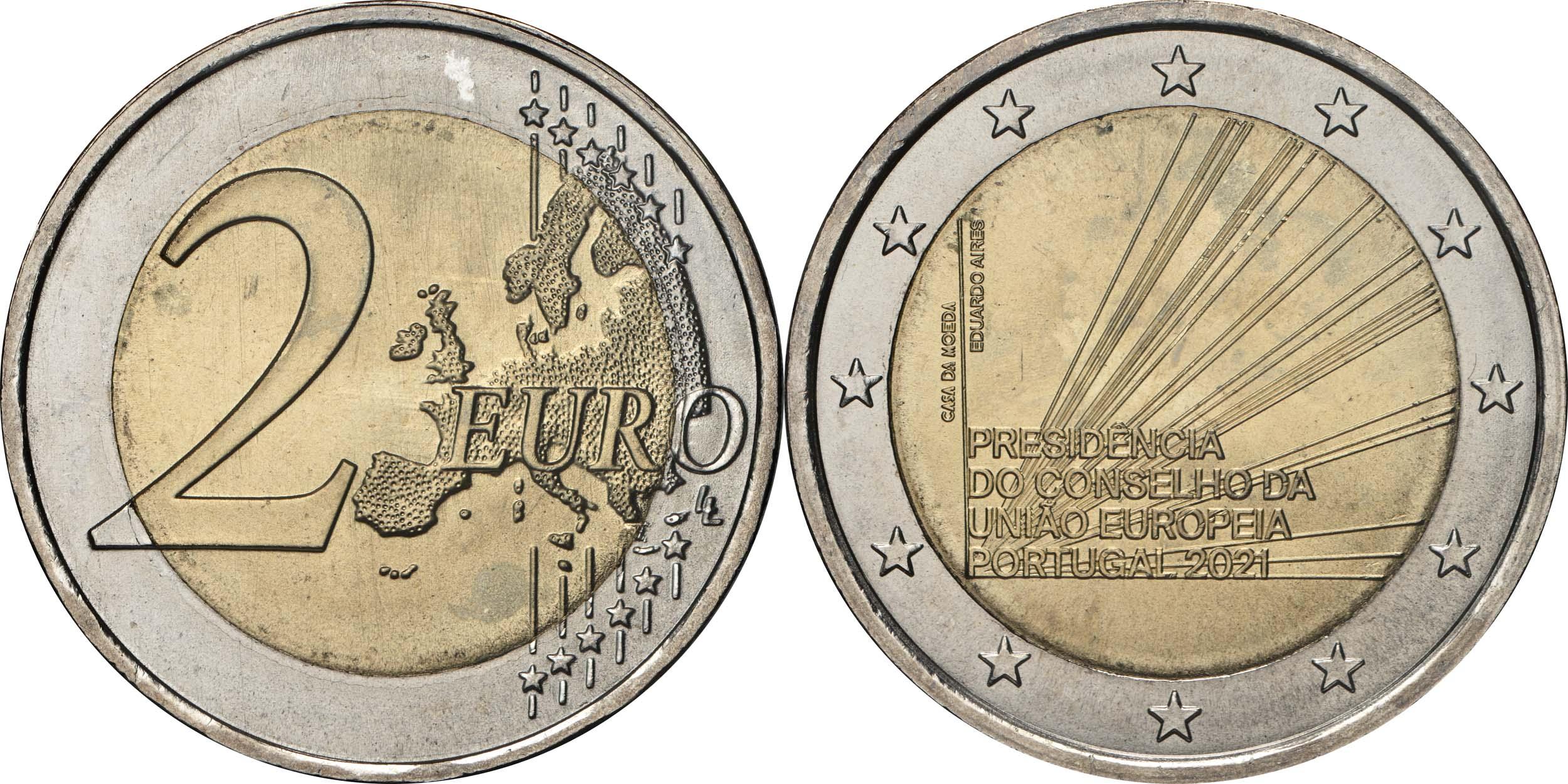 Lieferumfang:Portugal : 2 Euro EU-Präsidentschaft  2021 bfr