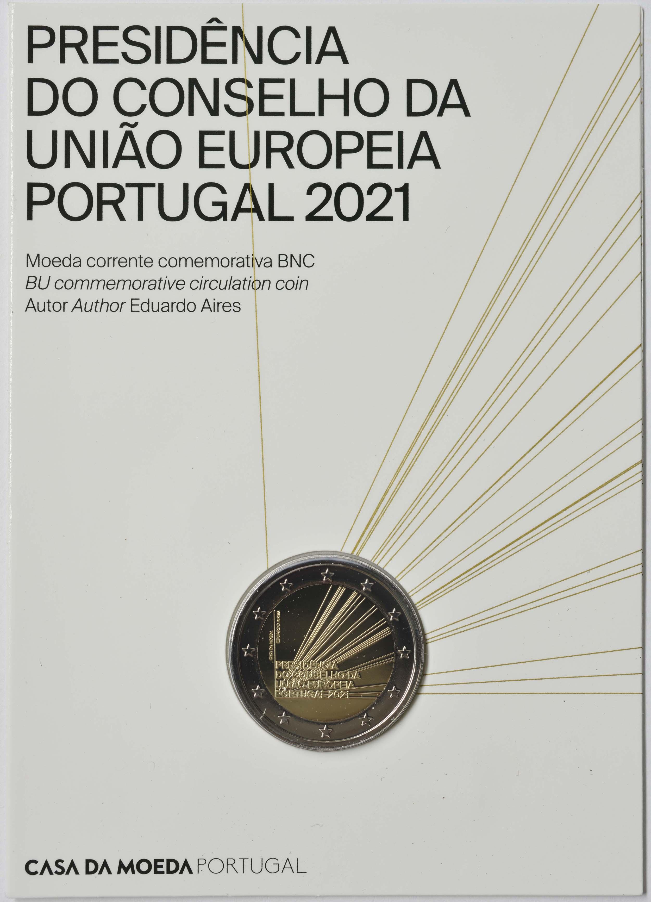 Lieferumfang:Portugal : 2 Euro EU-Präsidentschaft  2021 Stgl.
