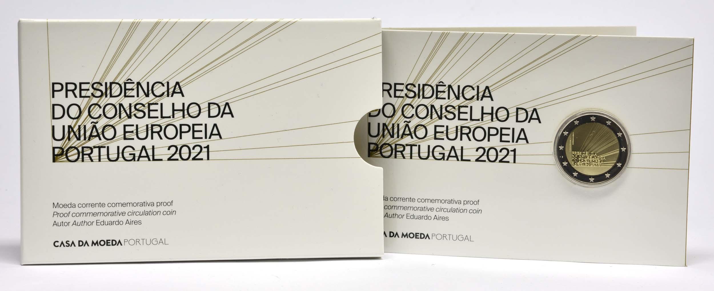 Lieferumfang:Portugal : 2 Euro EU-Präsidentschaft  2021 PP