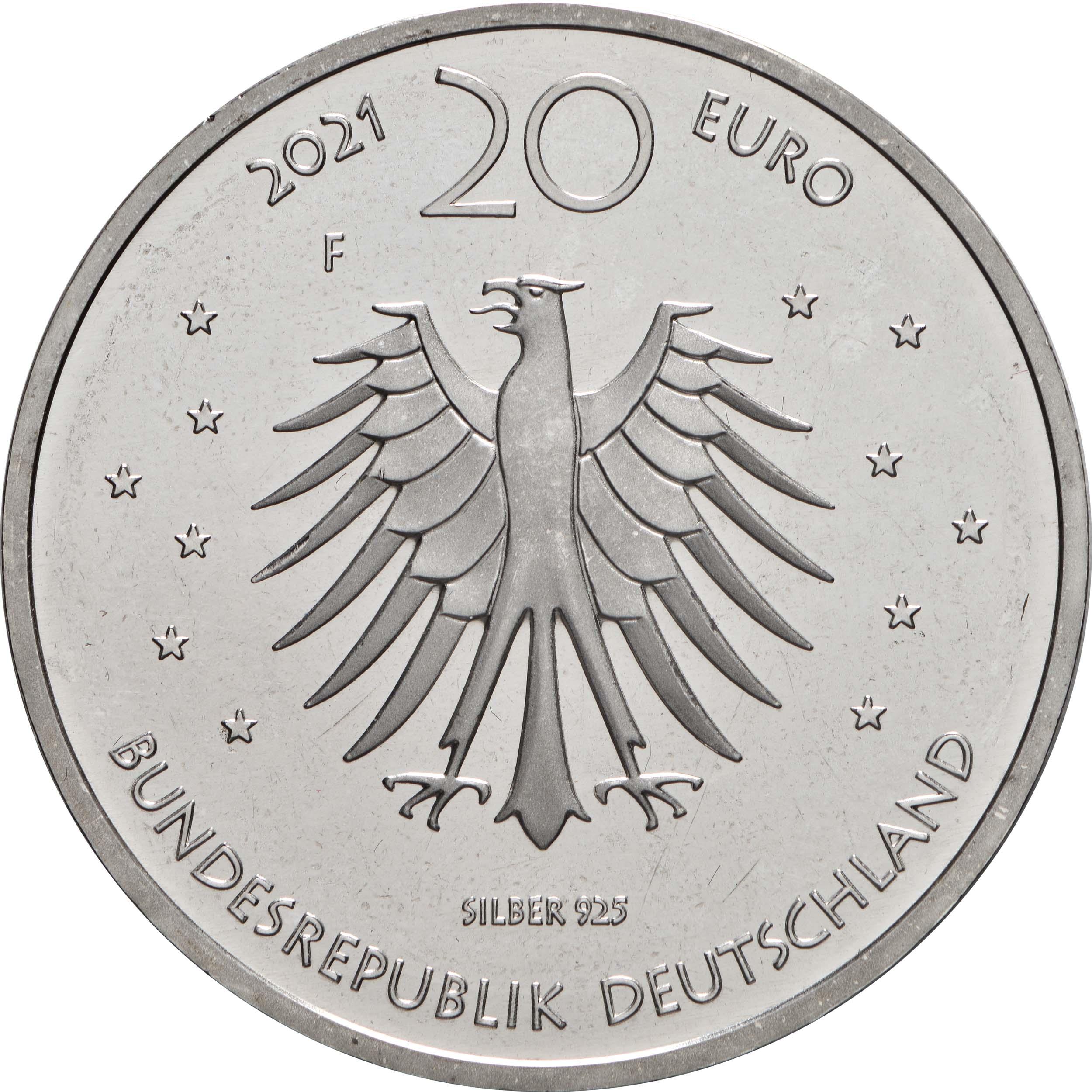 Rückseite:Deutschland : 20 Euro Grimms Märchen Frau Holle  2021 bfr