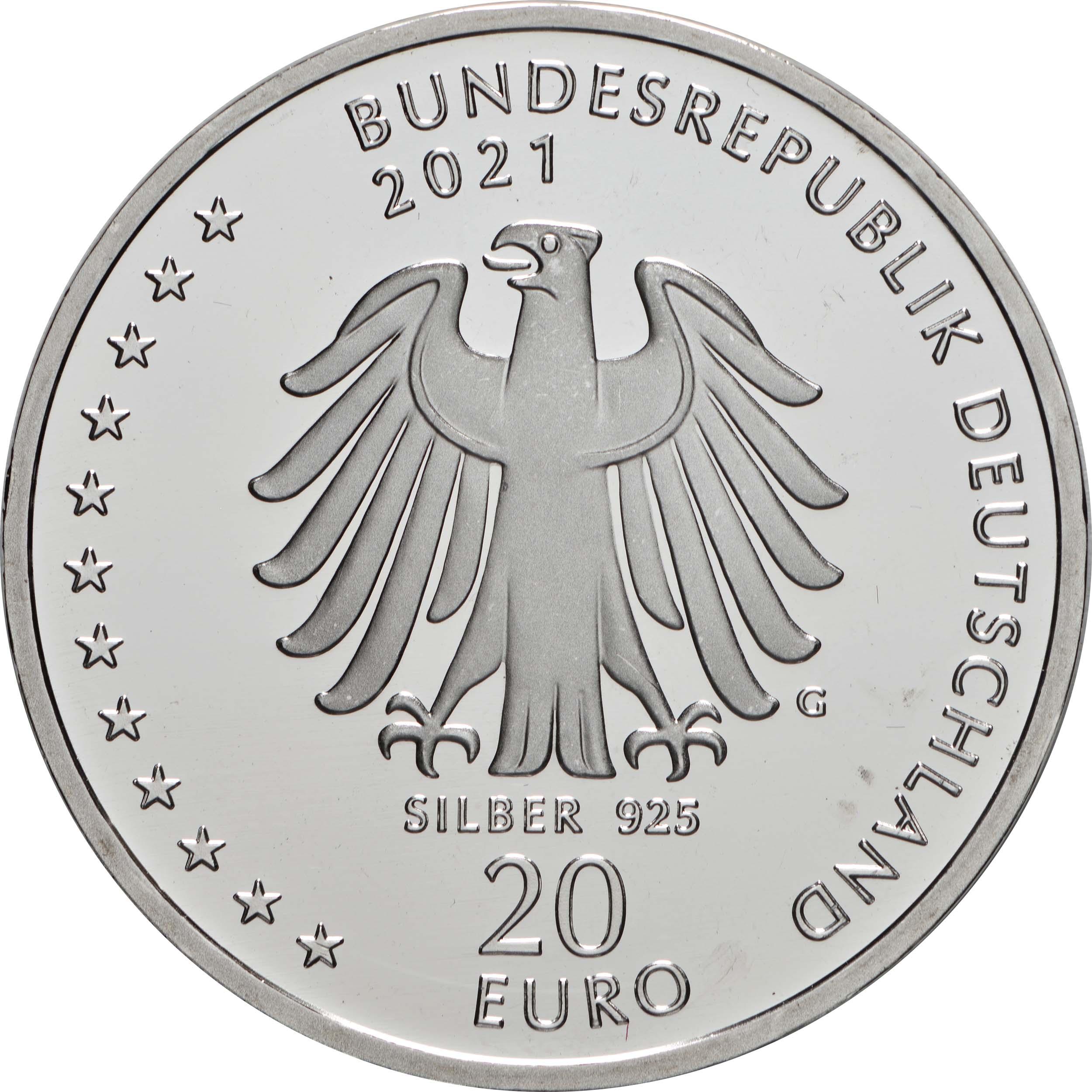 Rückseite:Deutschland : 20 Euro 200. Geburtstag Sebastian Kneipp  2021 bfr