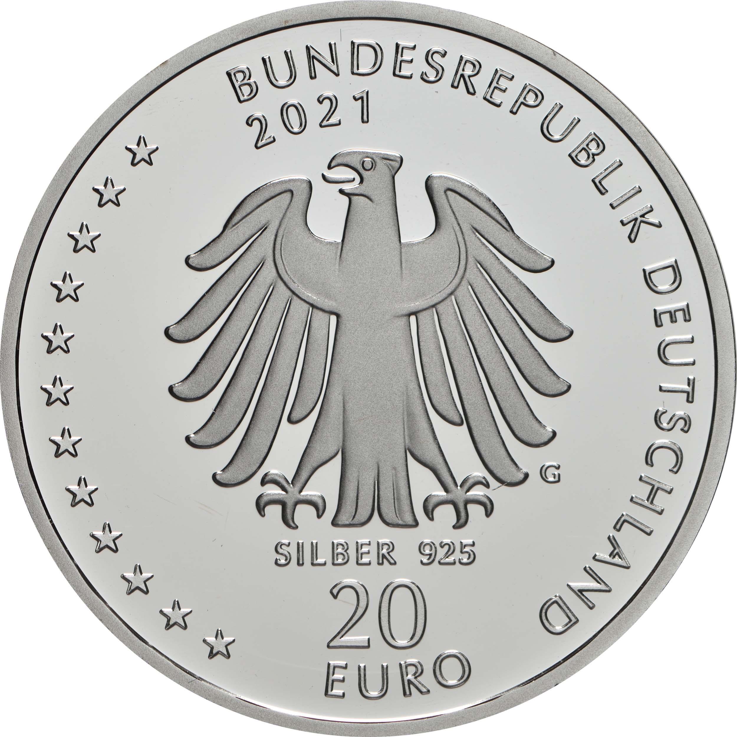 Rückseite:Deutschland : 20 Euro 200. Geburtstag Sebastian Kneipp  2021 PP