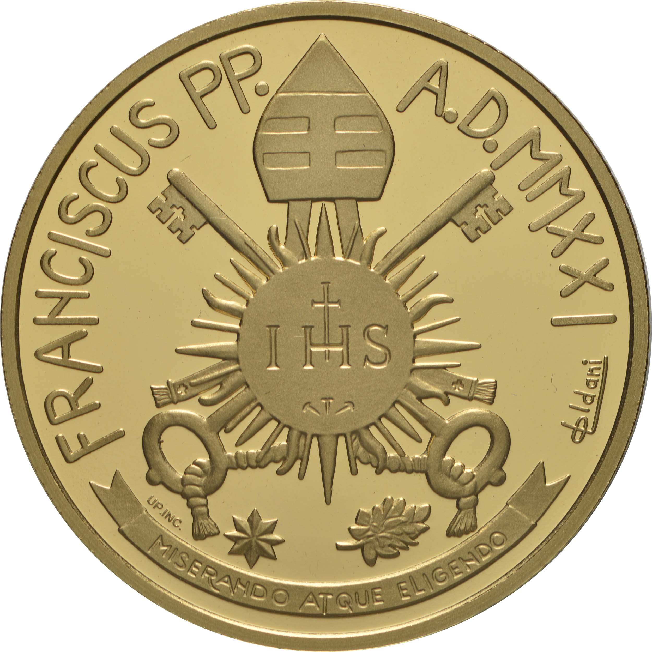 Rückseite:Vatikan : 53,88 Euro KMS Vatikan mit 50 Euro Gedenkmünze  2021 PP