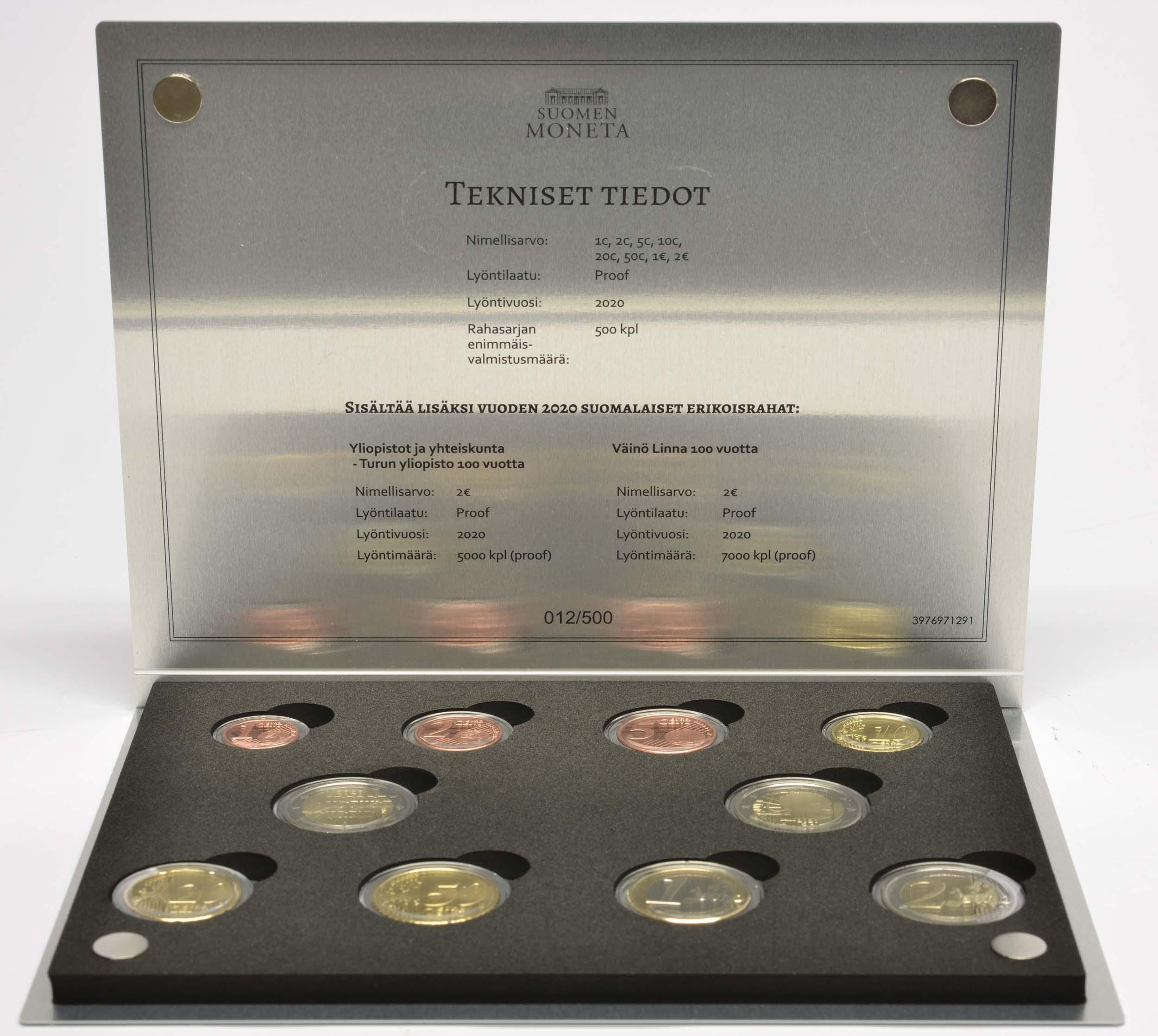 Lieferumfang:Finnland : 7,88 Euro KMS Finnland inkl. 2 Euro Turku und Linna  2020 PP