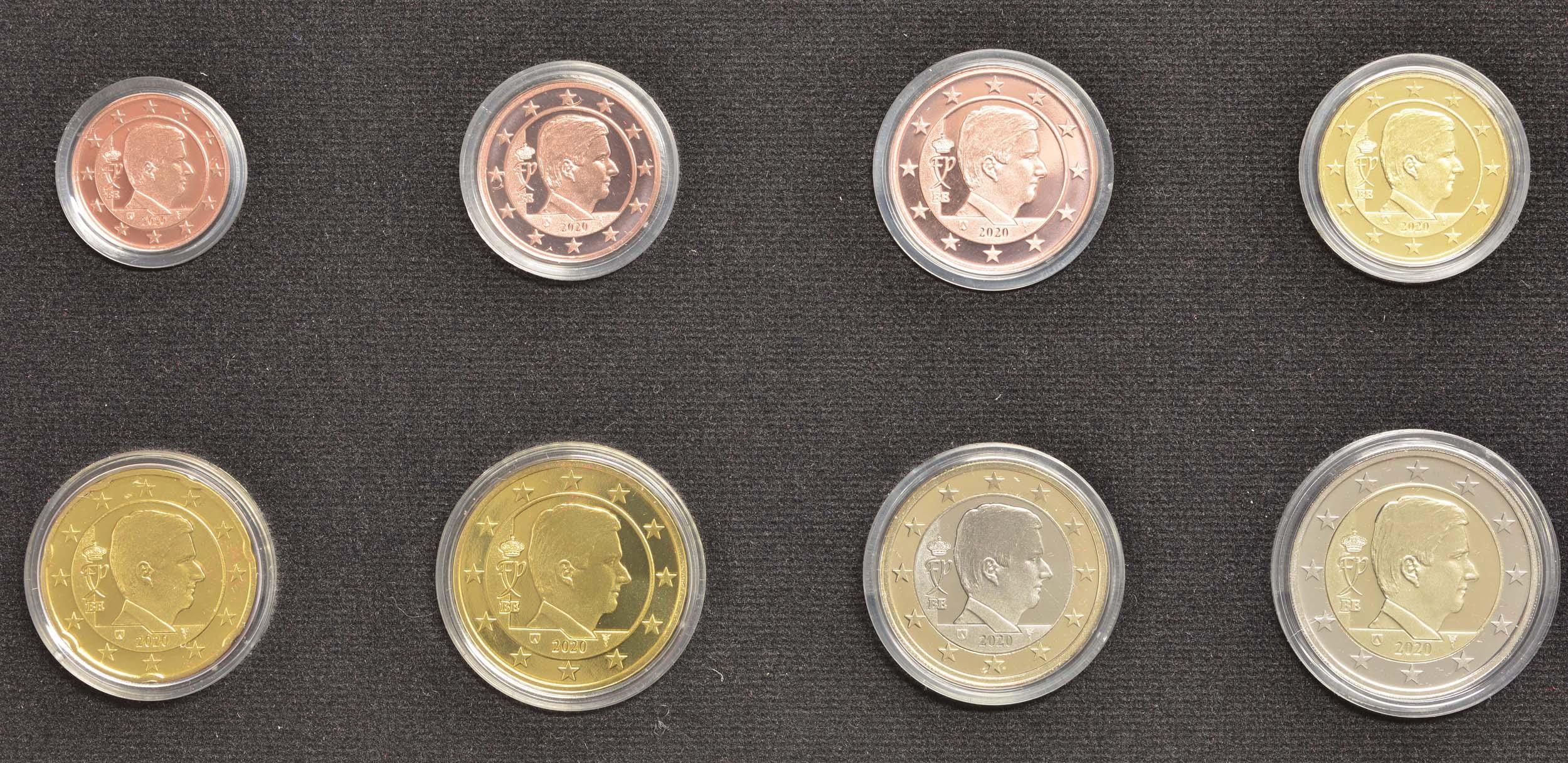 Vorderseite:Belgien : 3,88 Euro KMS Belgien  2020 PP