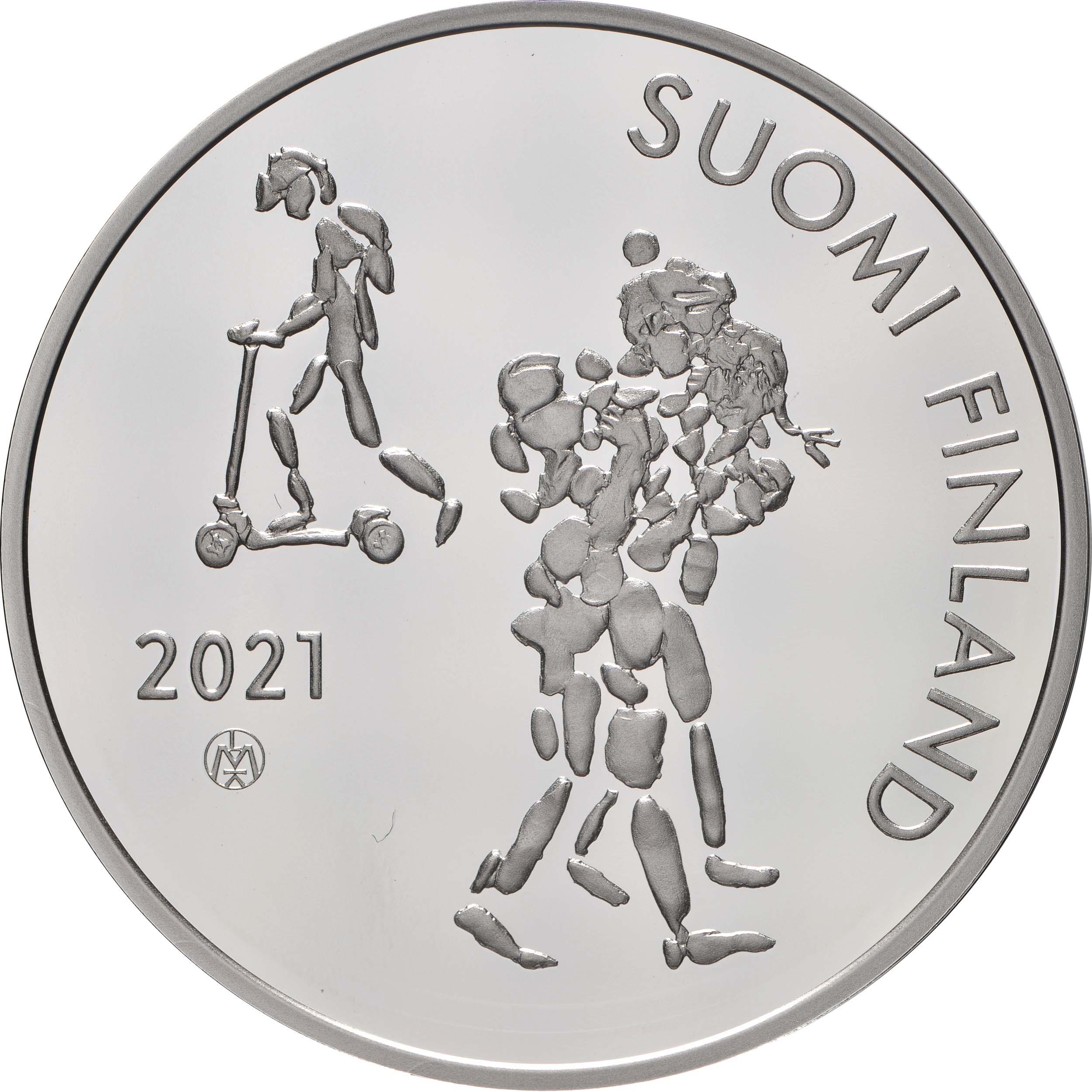 Vorderseite:Finnland : 20 Euro 100 Jahre Einführung der Schulpflicht  2021 PP