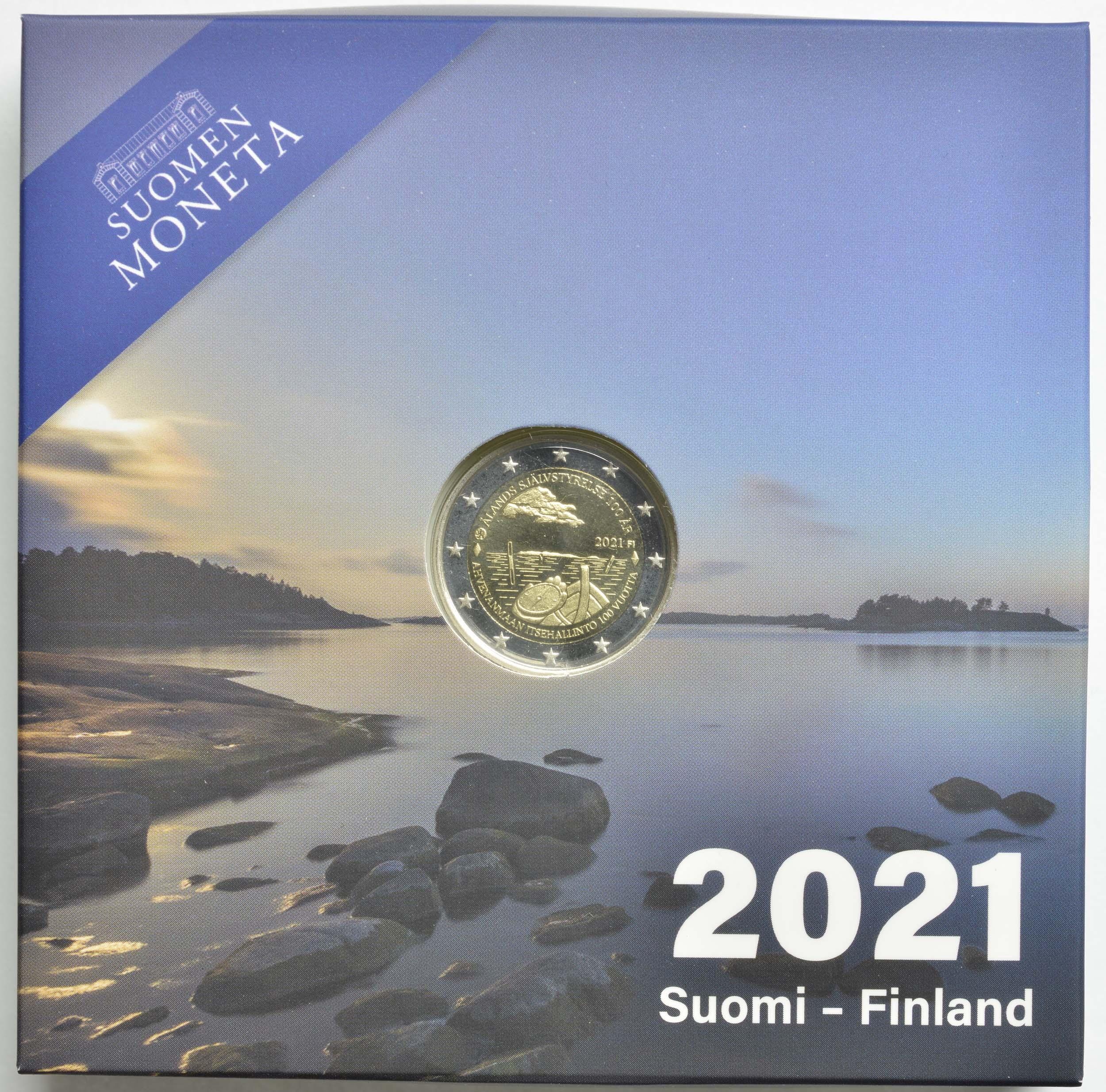 Lieferumfang:Finnland : 2 Euro 100. Jahrestag der Selbstverwaltung in der Region Aland  2021 PP