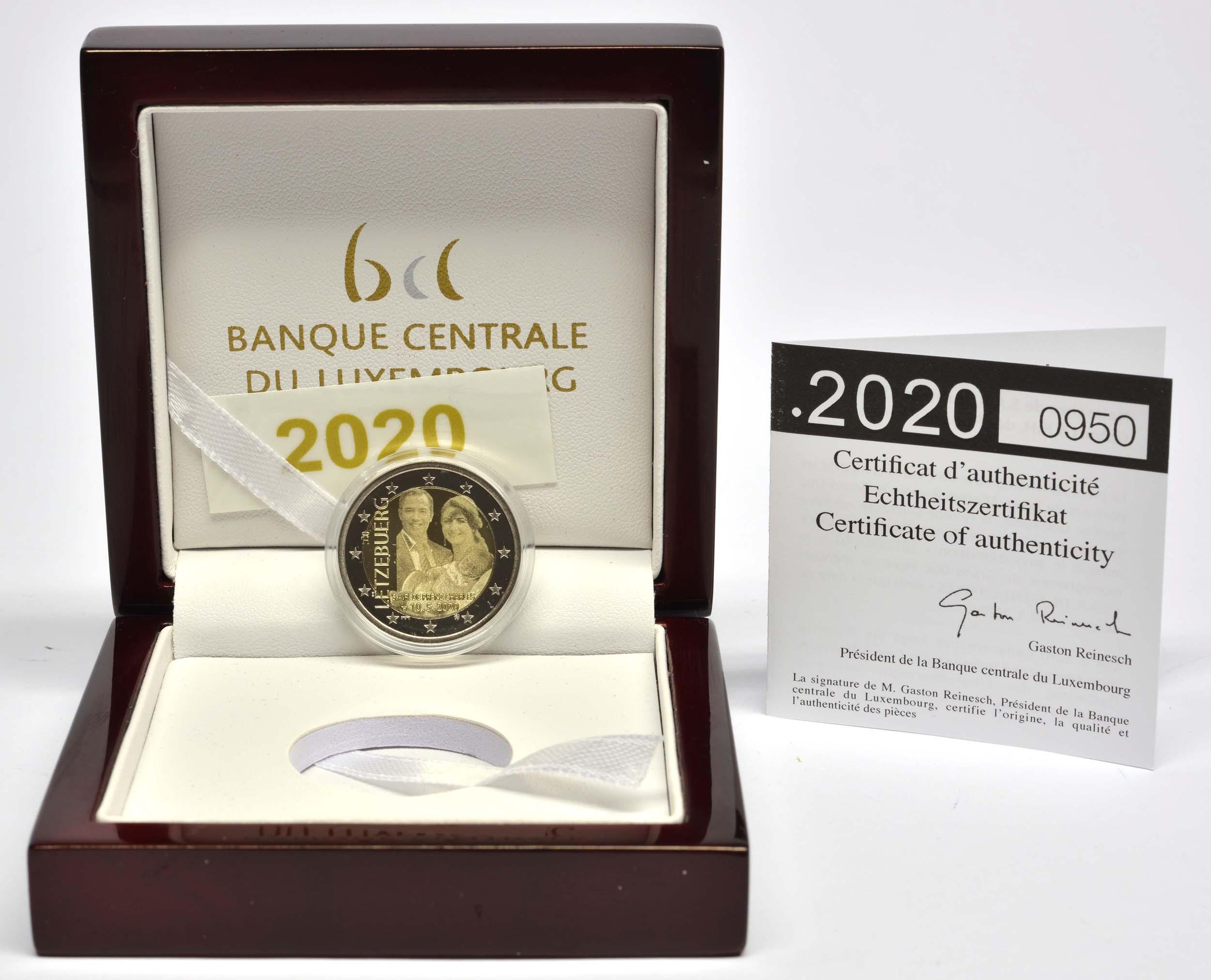 Lieferumfang:Luxemburg : 2 Euro Prinz Charles / Hologramm  2020 PP