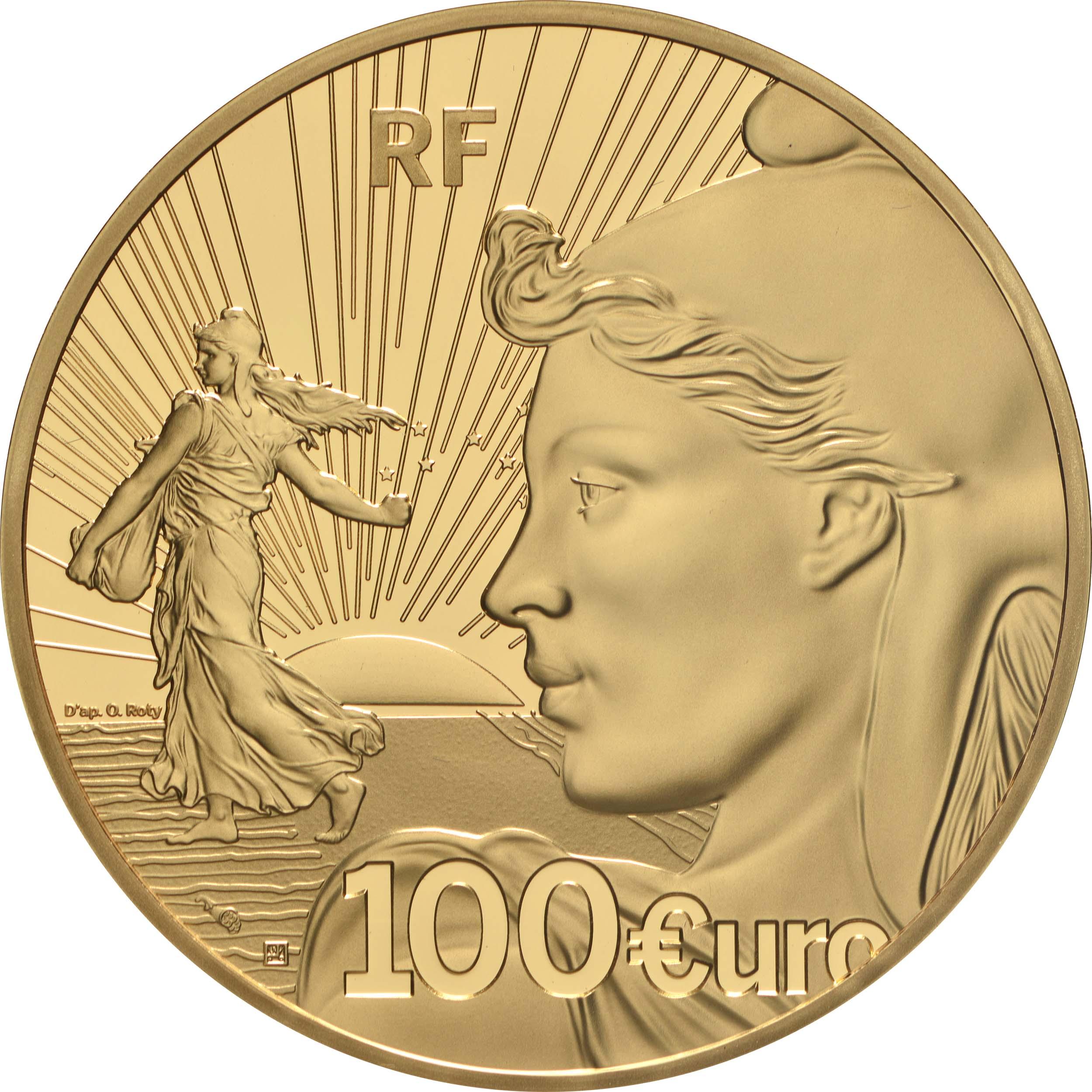 Rückseite:Frankreich : 100 Euro 20 Jahre Starterkit  2021 PP