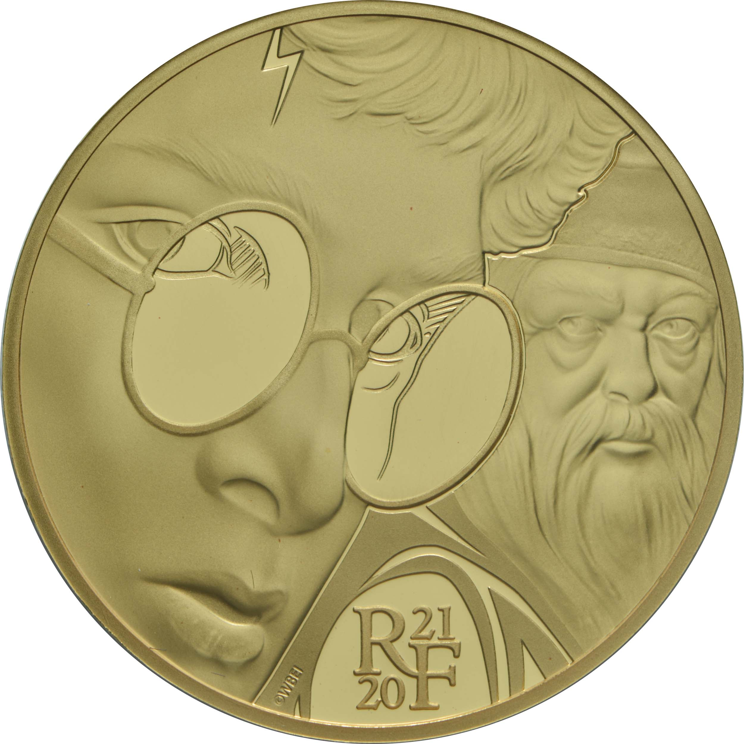 Vorderseite:Frankreich : 50 Euro Harry Potter und Dumbledore  2021 PP