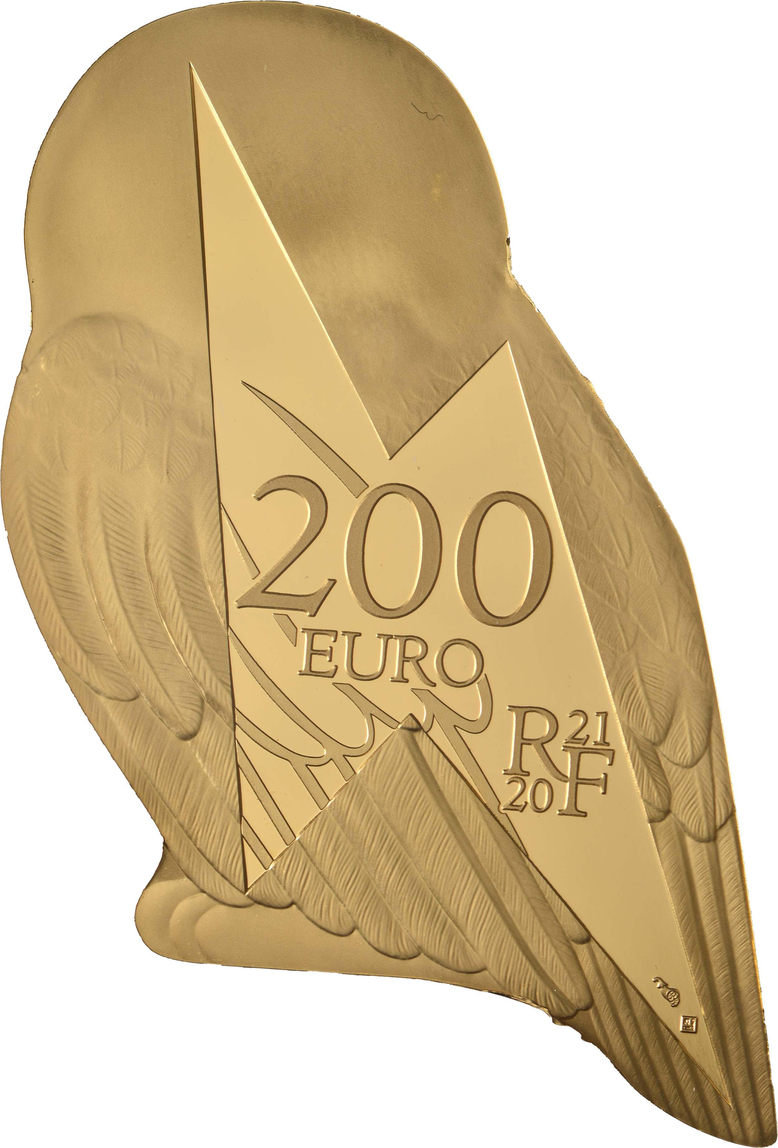 Rückseite:Frankreich : 200 Euro Harrys Eule Hedwig  2021 PP
