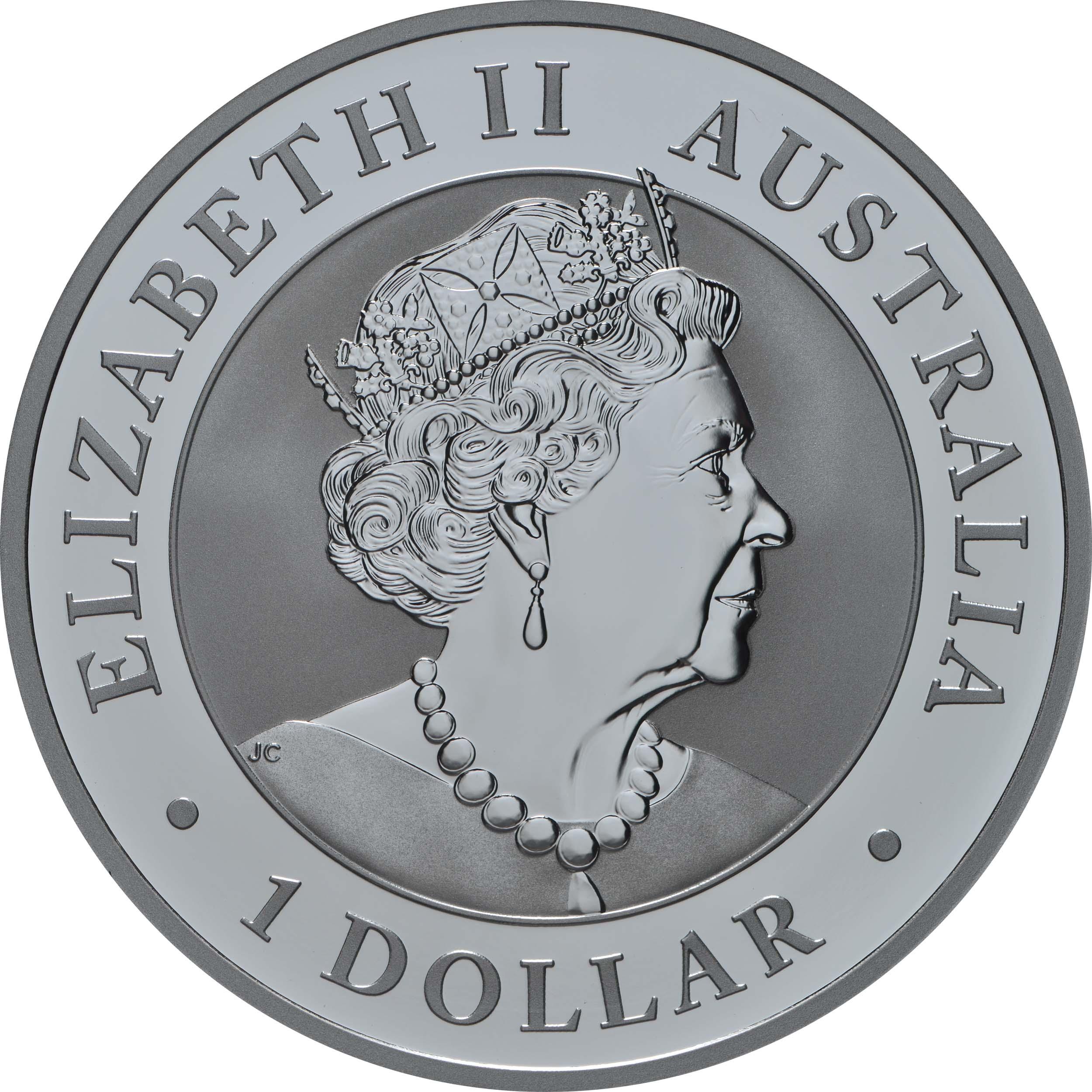 Rückseite:Australien : 1 Dollar Wedge Tailed Eagle  2021 Stgl.