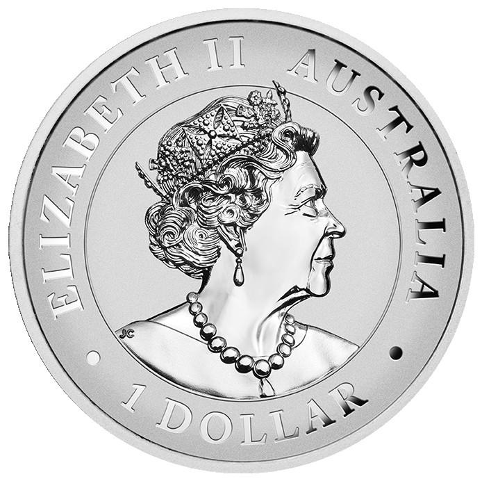 Rückseite:Australien : 1 Dollar Australischer Keilschwanzadler 1 oz Hohes Relief   2021 PP
