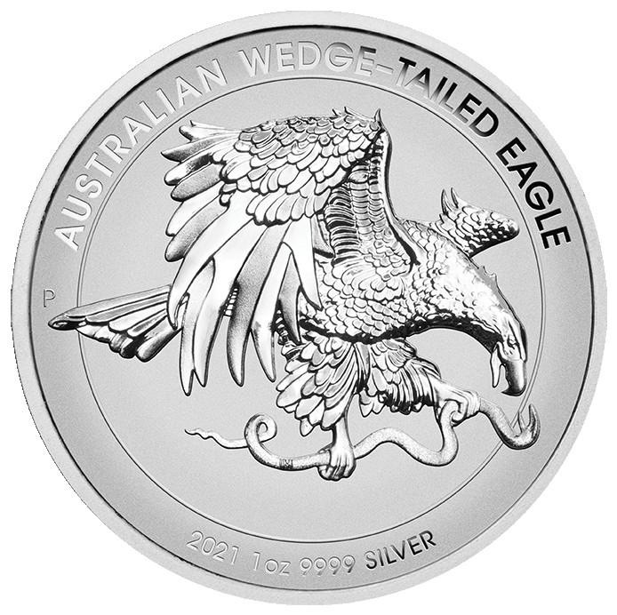 Vorderseite:Australien : 1 Dollar Australischer Keilschwanzadler 1 oz Hohes Relief   2021 PP