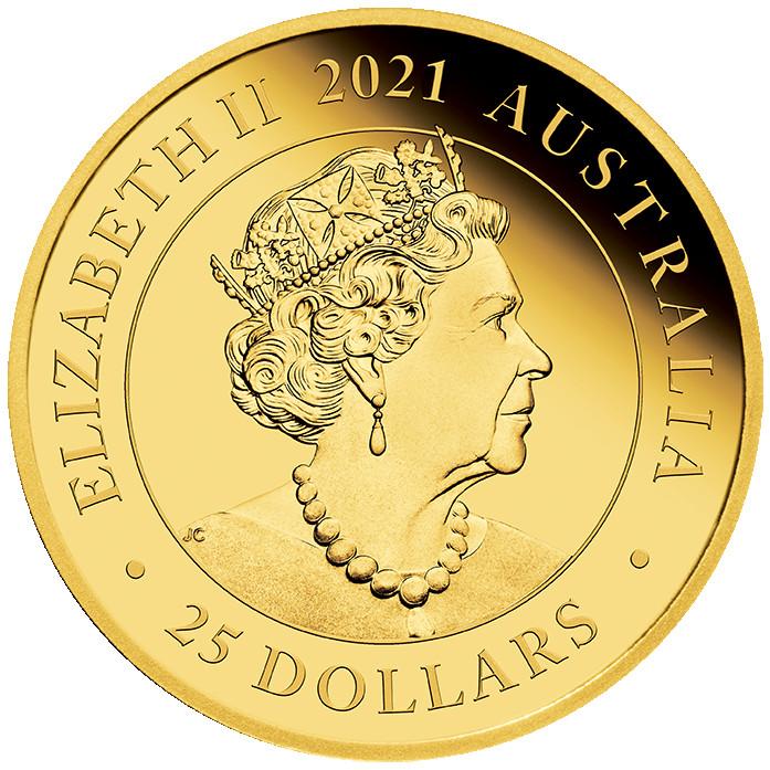 Rückseite:Australien : 25 Dollar Sovereign - Gold Proof coin   2021 PP